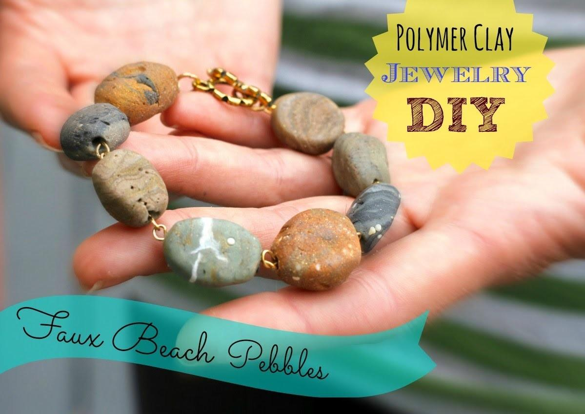 Diy Faux Stone Jewelry Polymer Clay Inspired