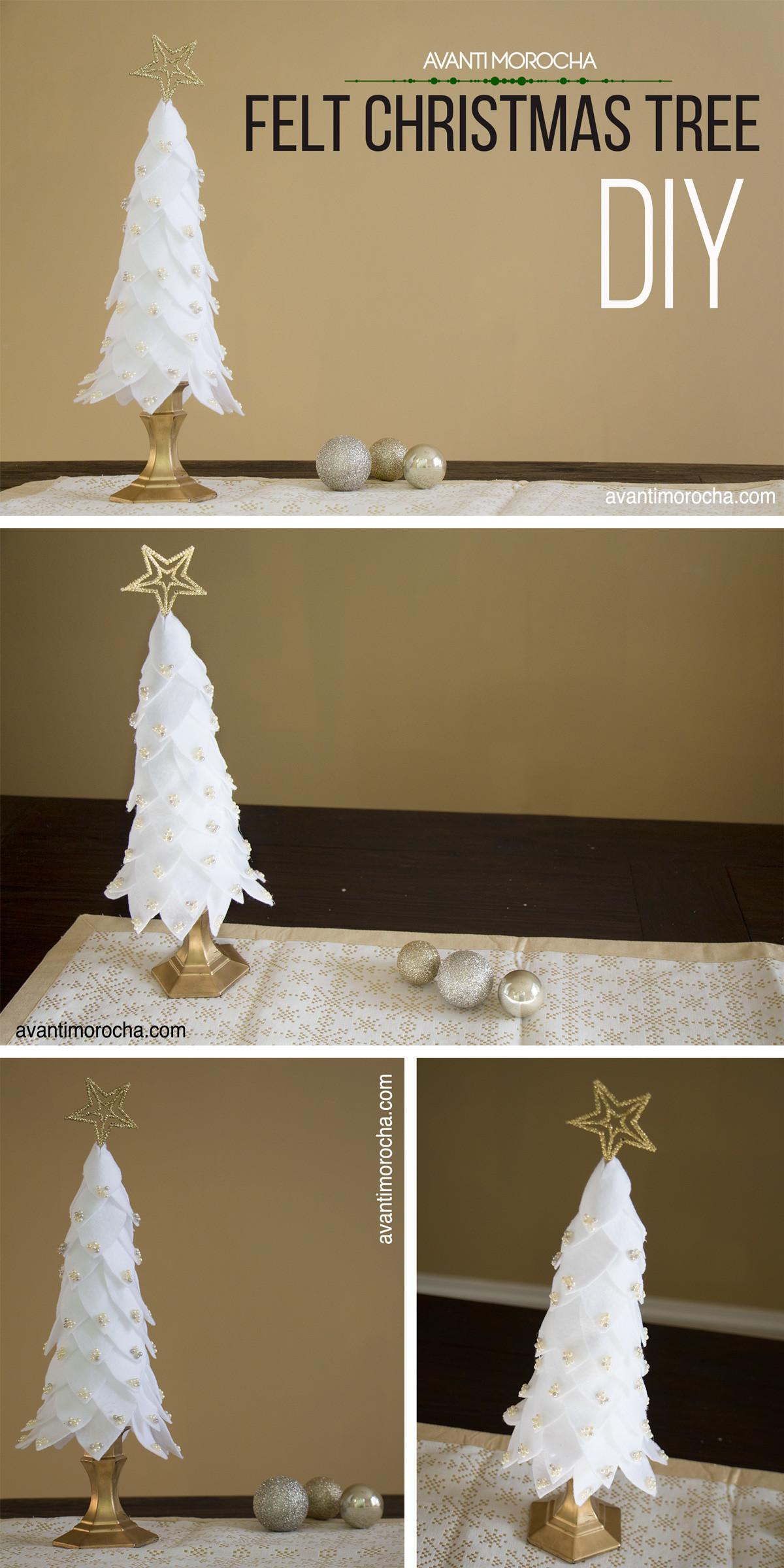 Diy Felt Christmas Tree Arbol Navide Fieltro