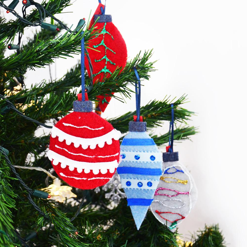 Diy Felt Christmas Tree Ornaments Kids Repurposed