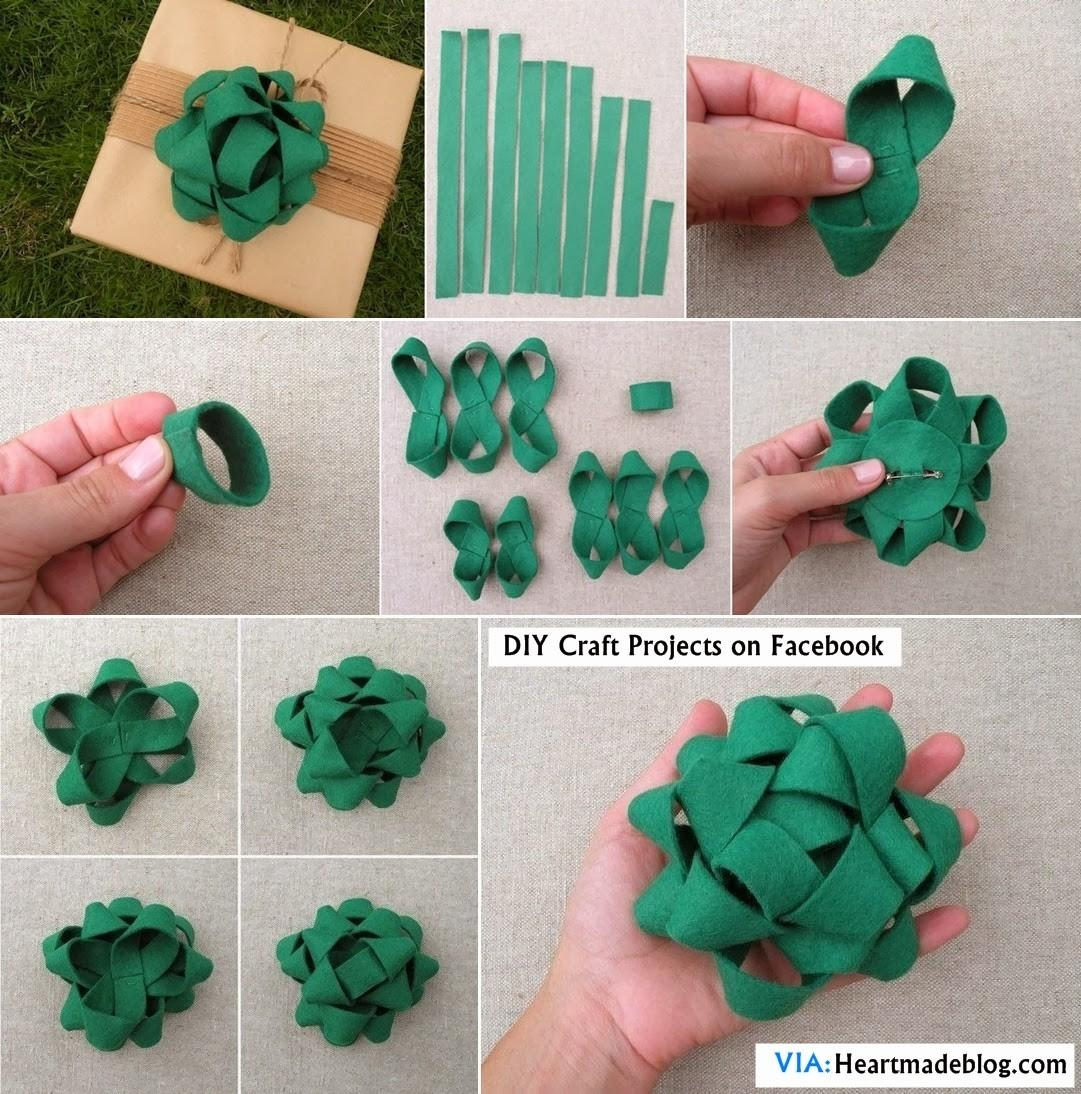 Diy Felt Gift Bow Topper Craft Projects