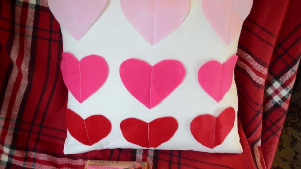 Diy Felt Heart Pillow Tutorial Duckinyellow Crafts