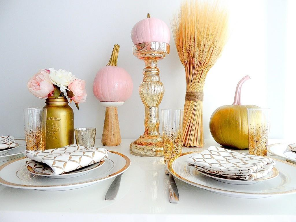 Diy Festive Fall Table Setting Pink Town