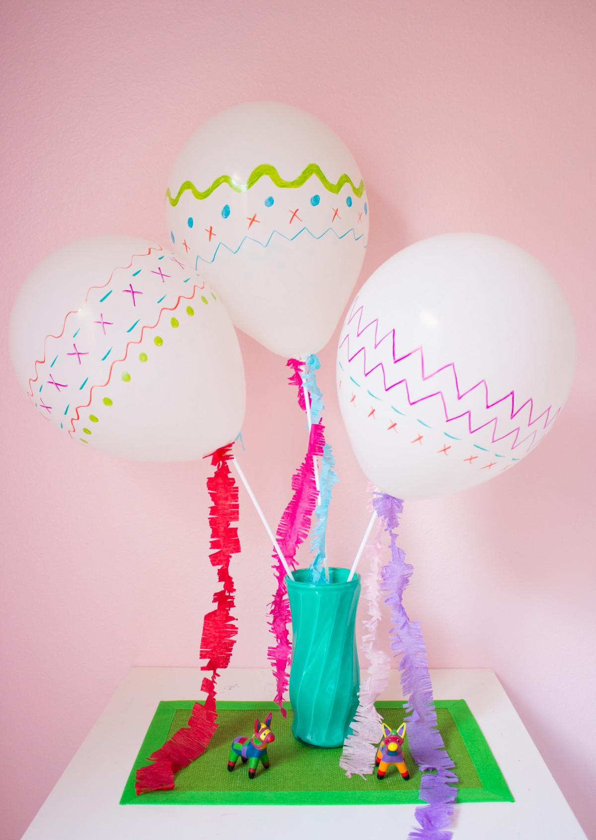 Diy Fiesta Party Balloons