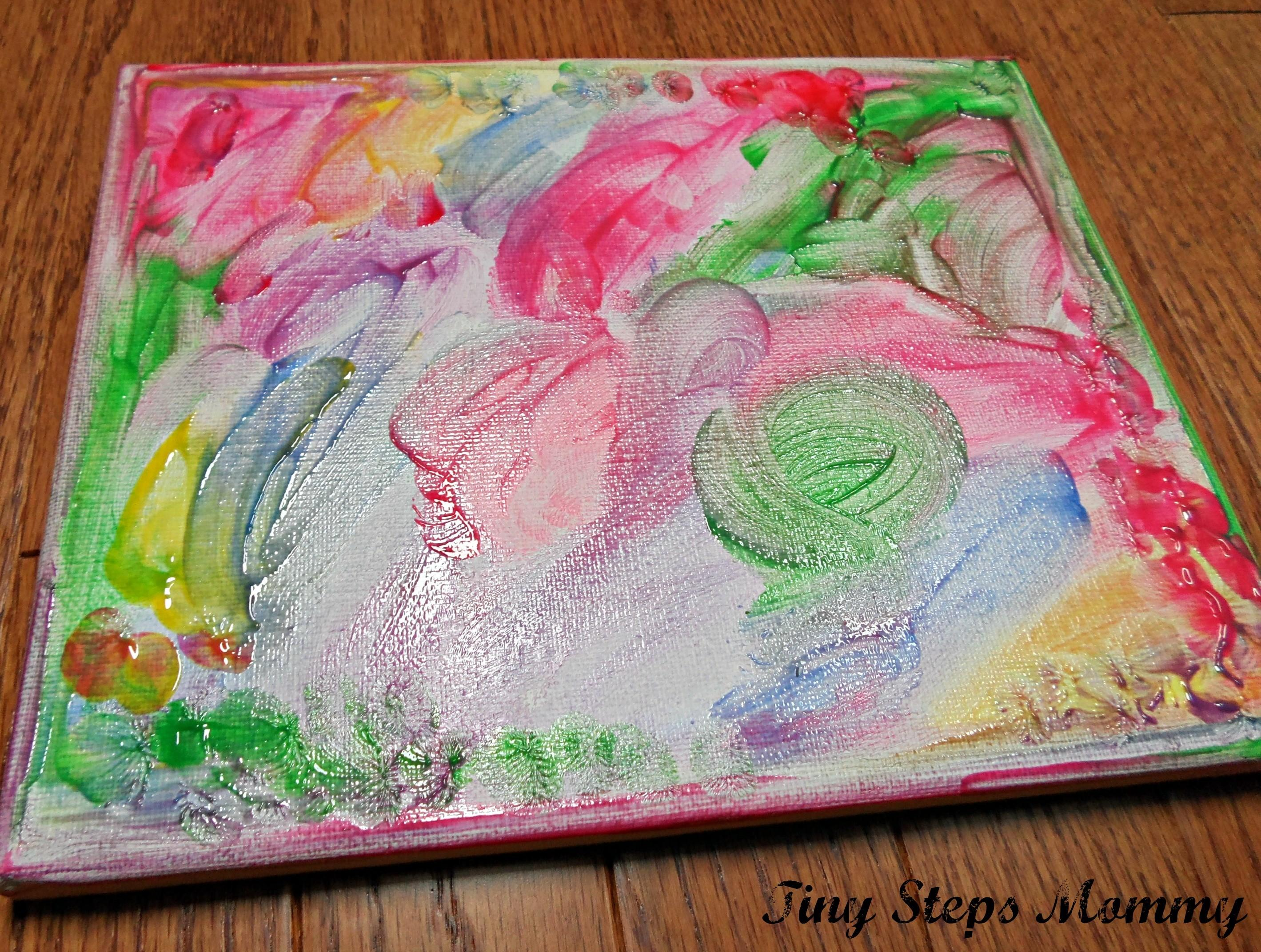 Diy Finger Paint Canvas Tutorial Tiny Step