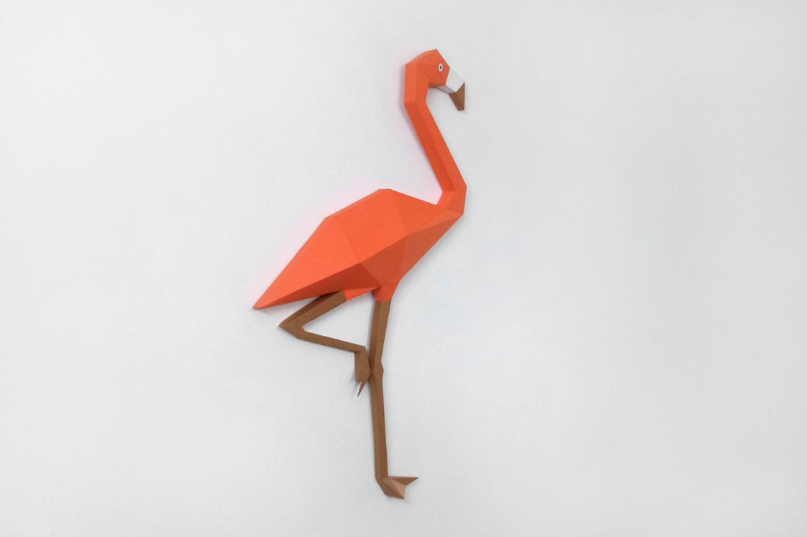 Diy Flamingo Wall Decor Papercraft Design Bundles