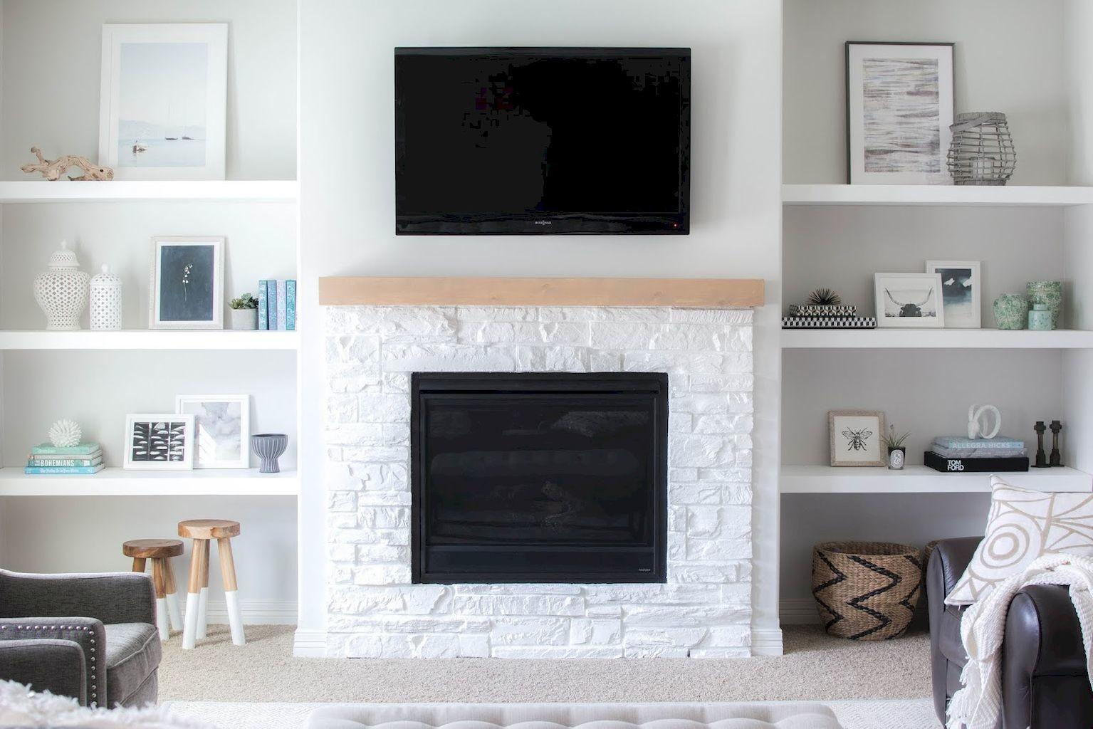 Diy Floating Shelves Living Room Decorating