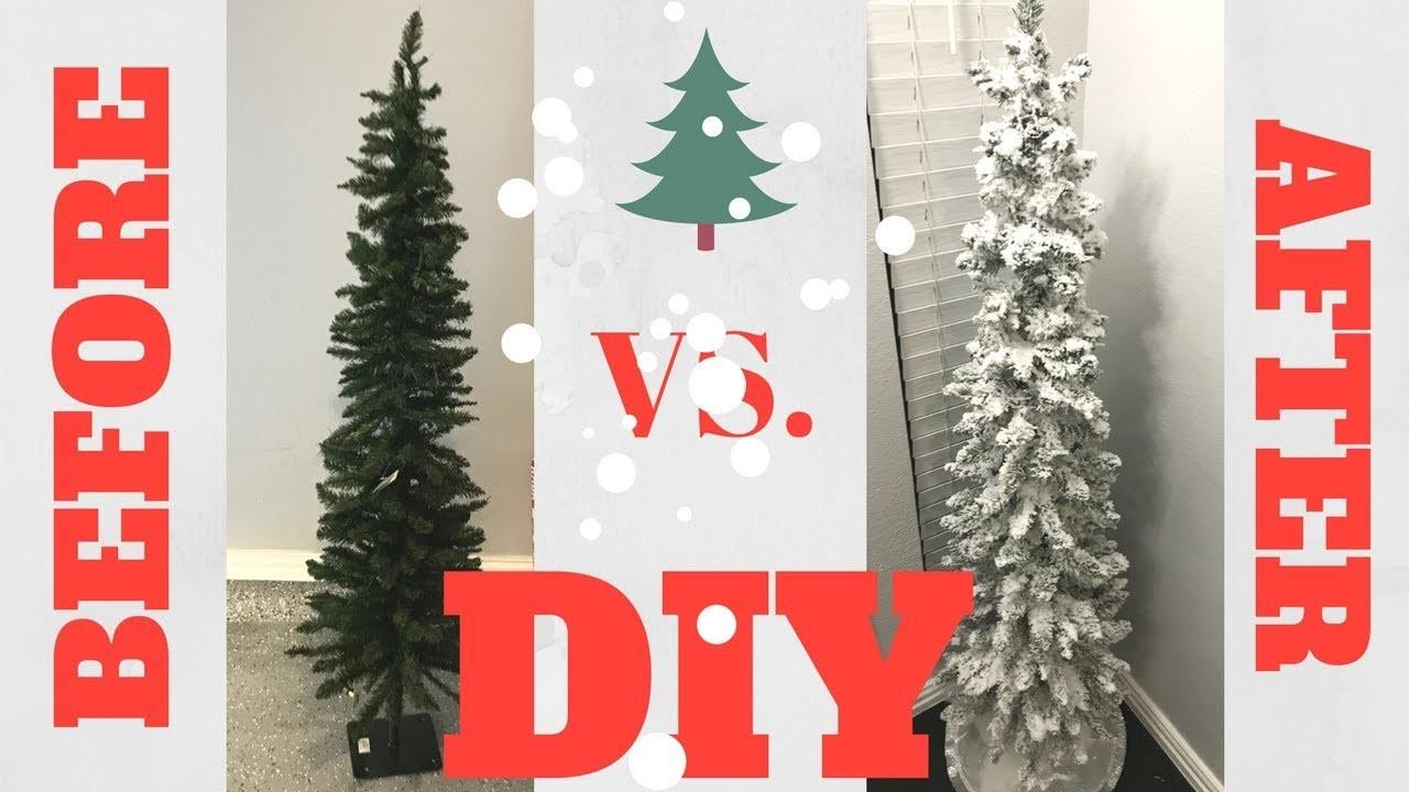 Diy Flocked Snow Christmas Tree Save Money
