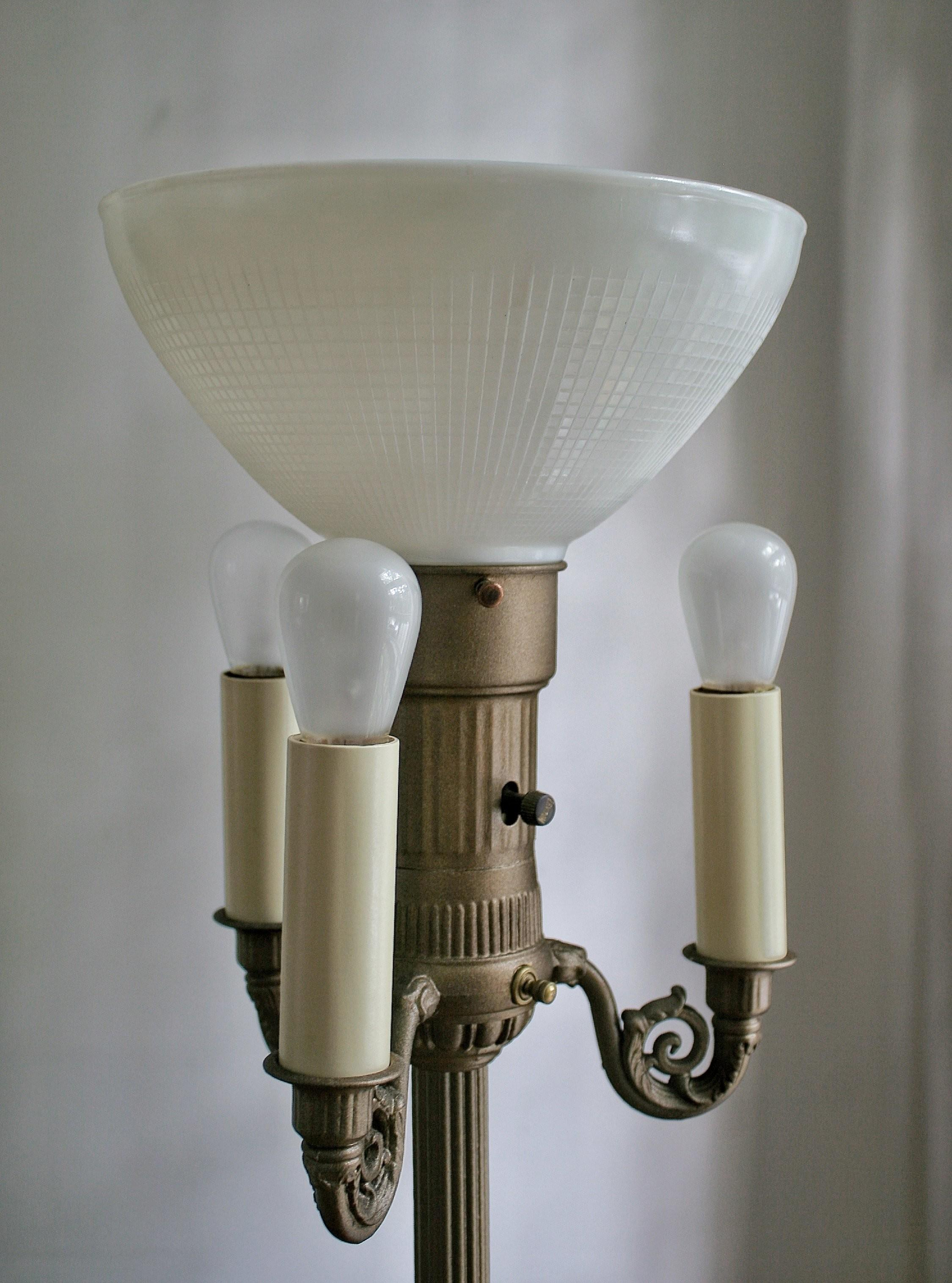 Diy Floor Lamp Refresh Superior Vintage Torchiere