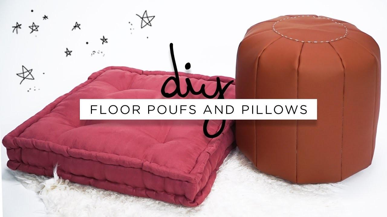 Diy Floor Poufs Pillows Sorry Girls