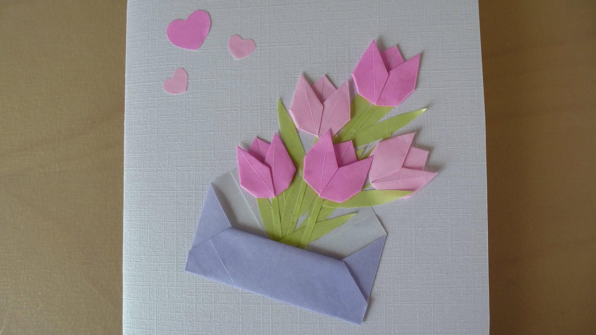 Diy Flower Card Mother Day Origami
