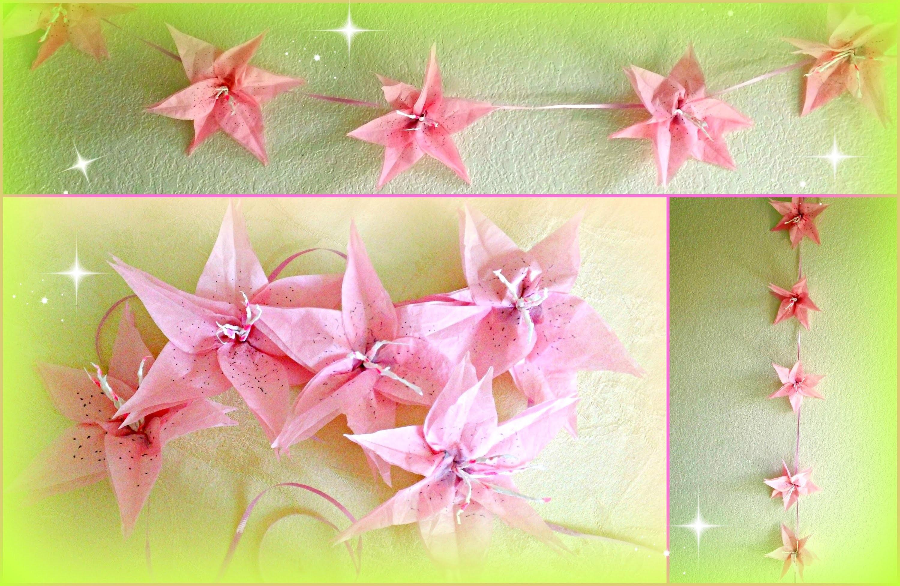 Diy Flower Decorations Paper Lily Garland
