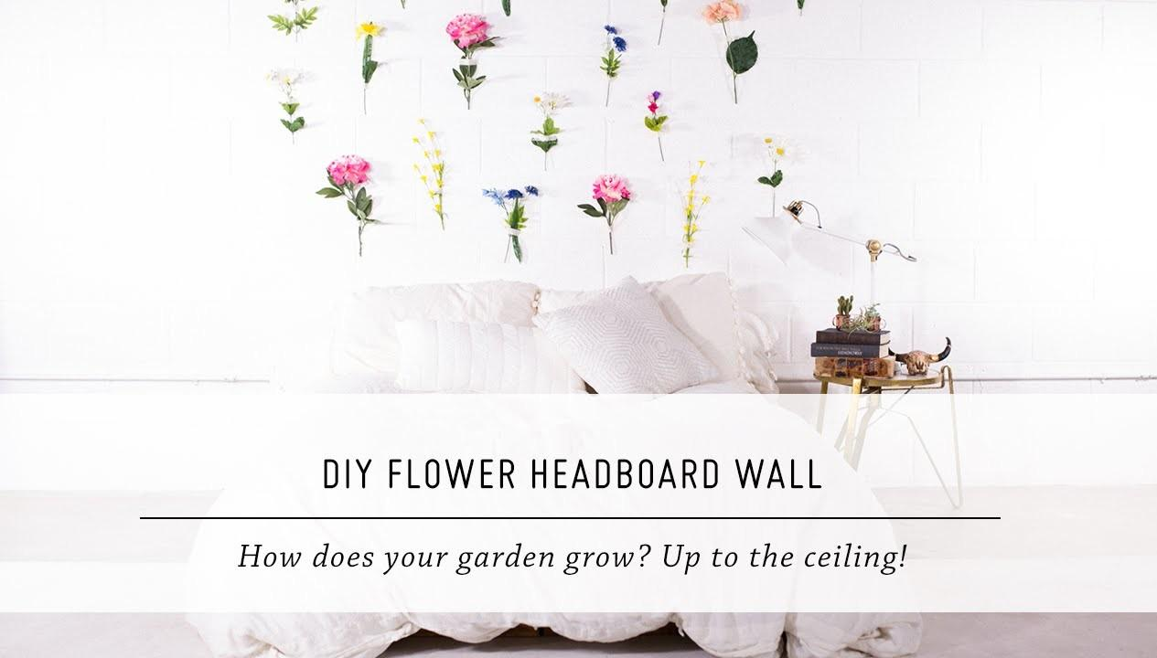 Diy Flower Headboard Wall Bedroom Home Decor Stop