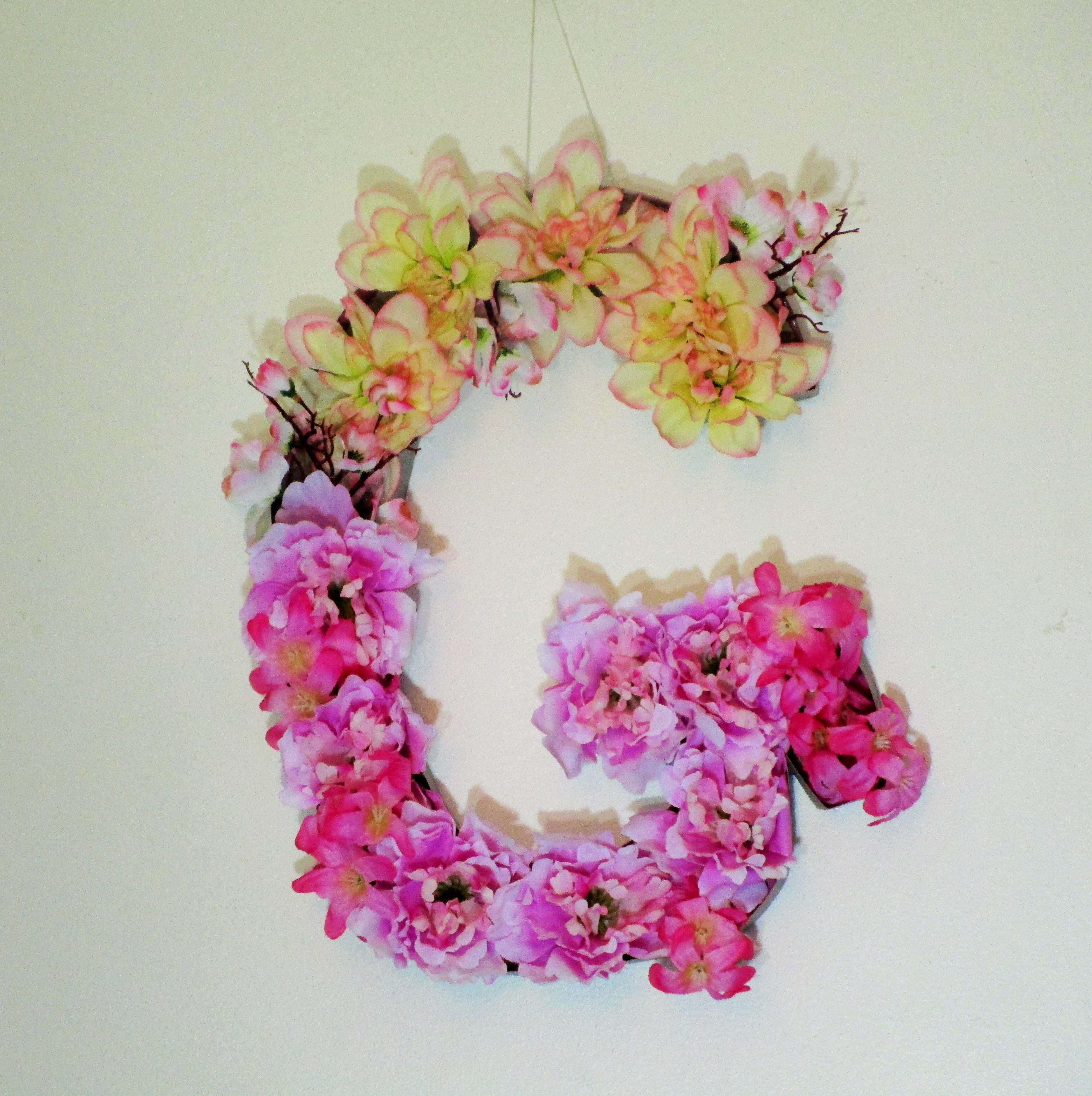 Diy Flower Monogram Letter Choose Make
