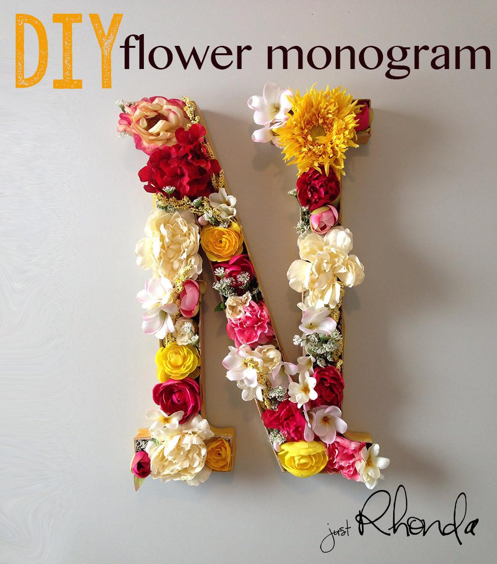 Diy Flower Monogram Rhondasteed