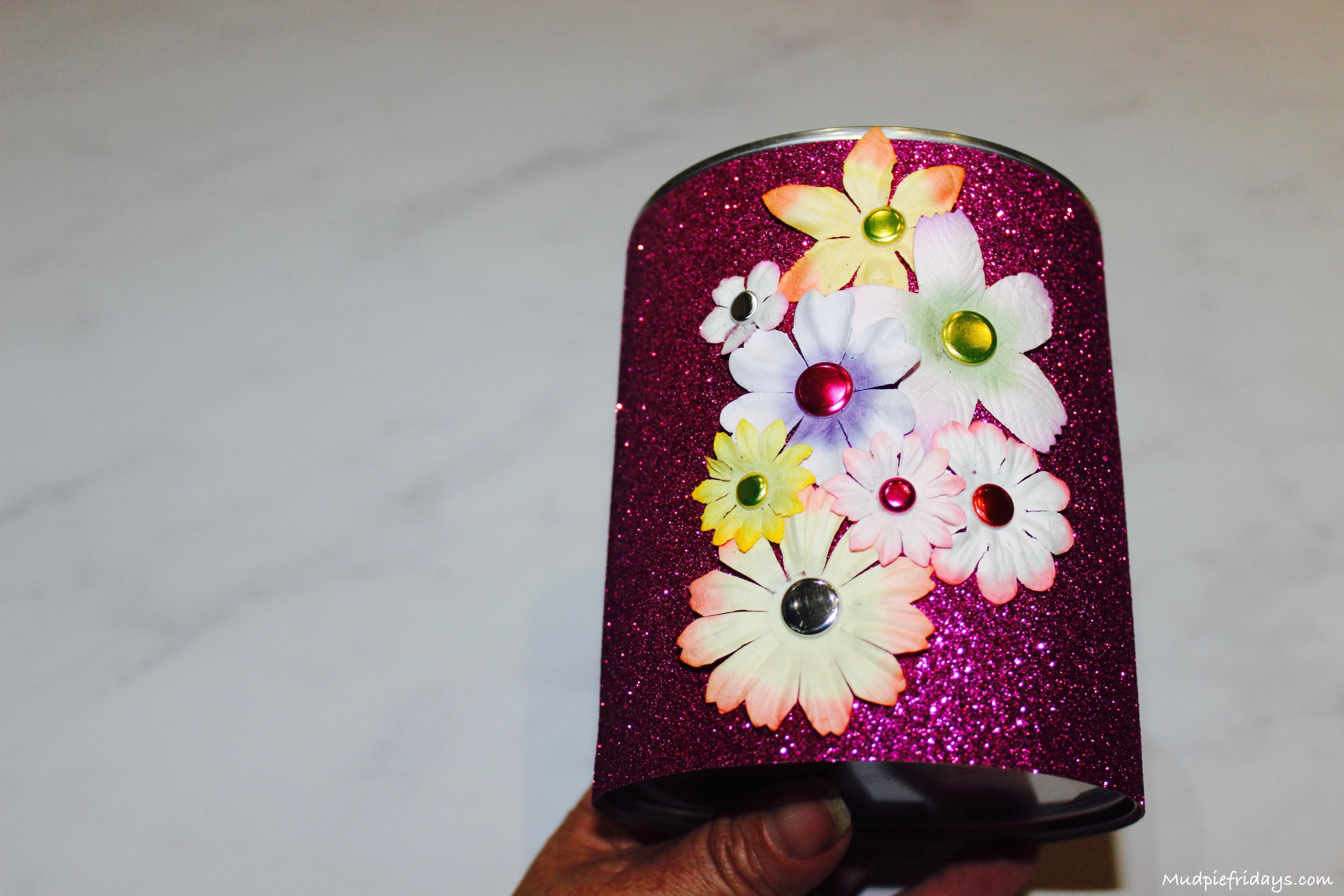 Diy Flower Pencil Holder Mudpiefridays