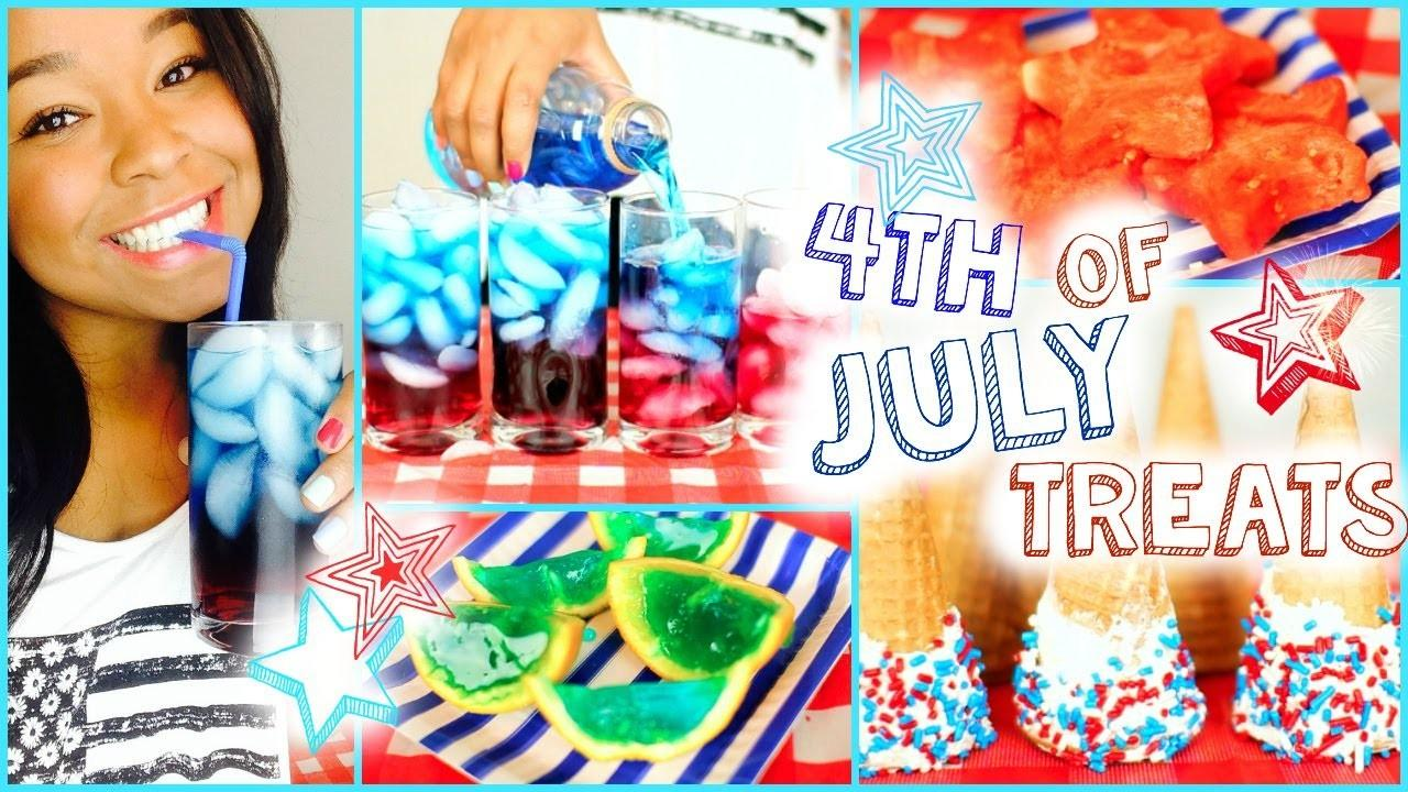 Diy Fourth July Treats Layered Drinks Dipped Cones