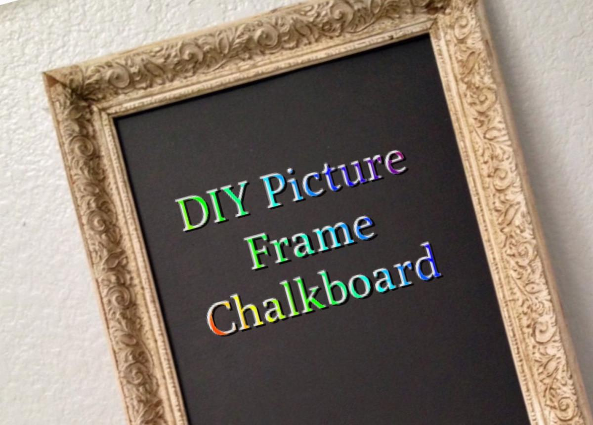 Diy Frame Chalkboard Anythingfromhome
