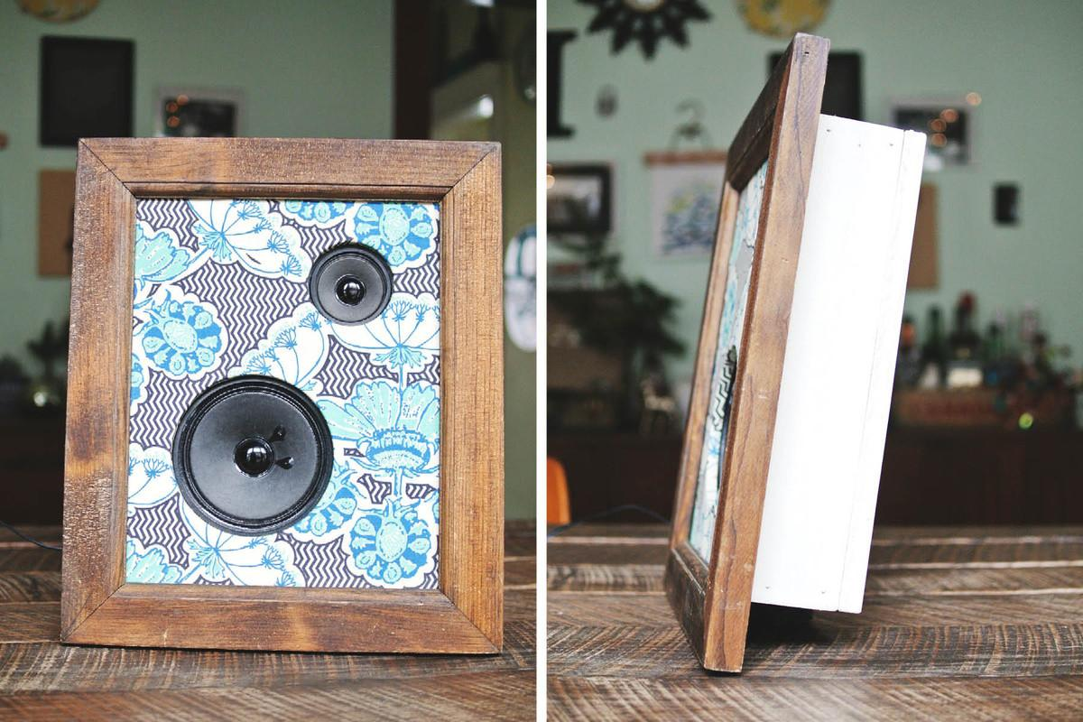Diy Framed Fabric Speakers Farm Fresh Therapy