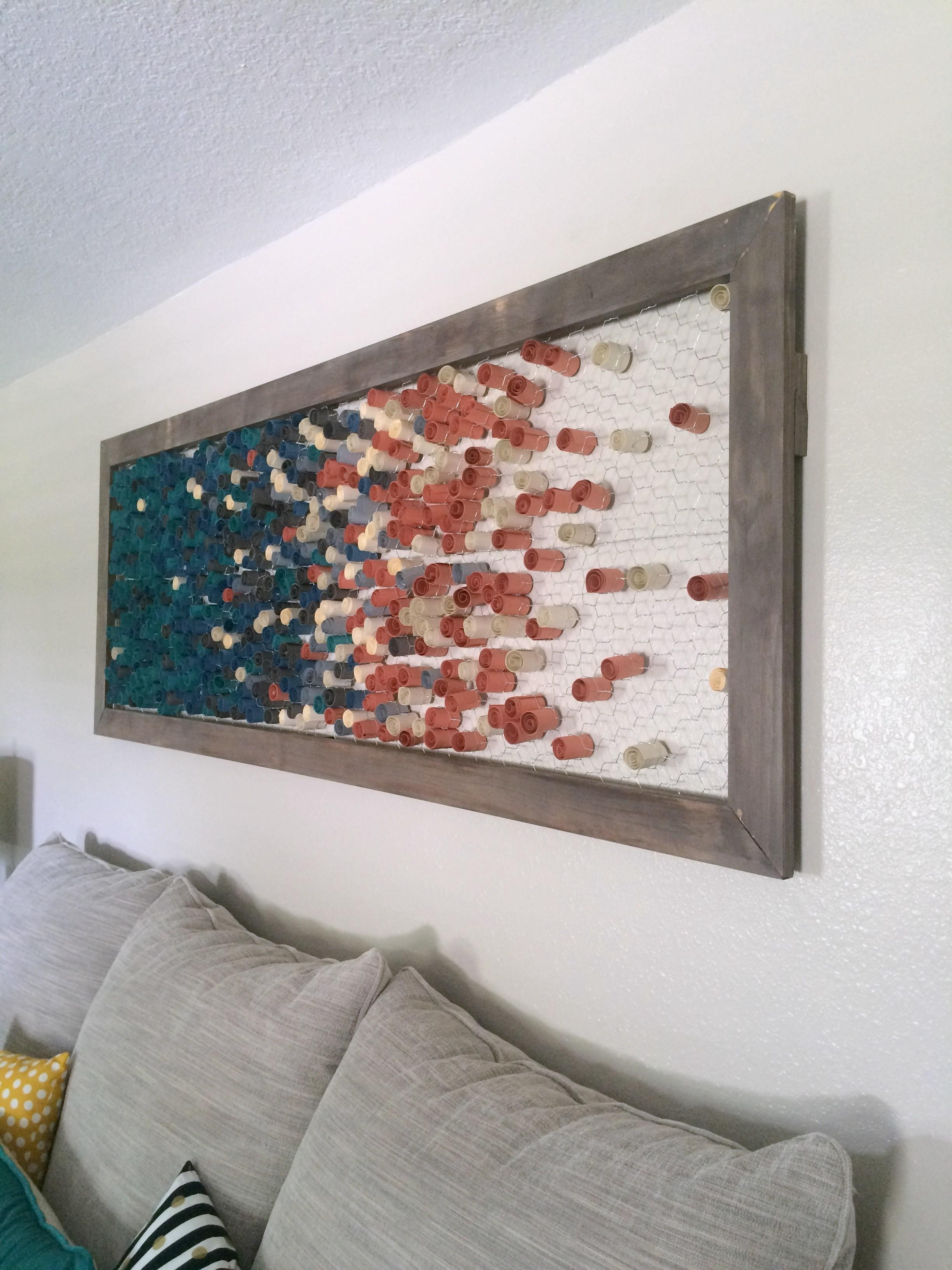 Diy Framed Paper Wall Art Within Grove