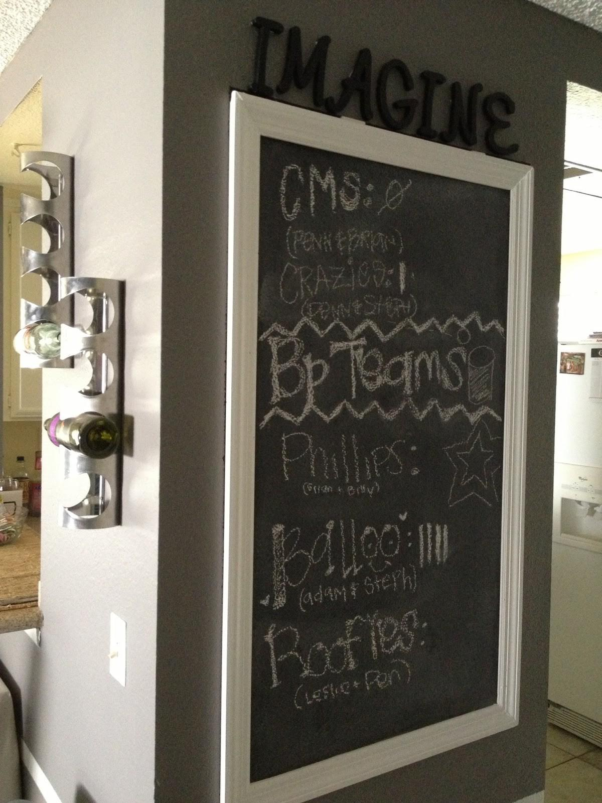 Diy Framed Wall Chalkboard Another Day Lovely Life