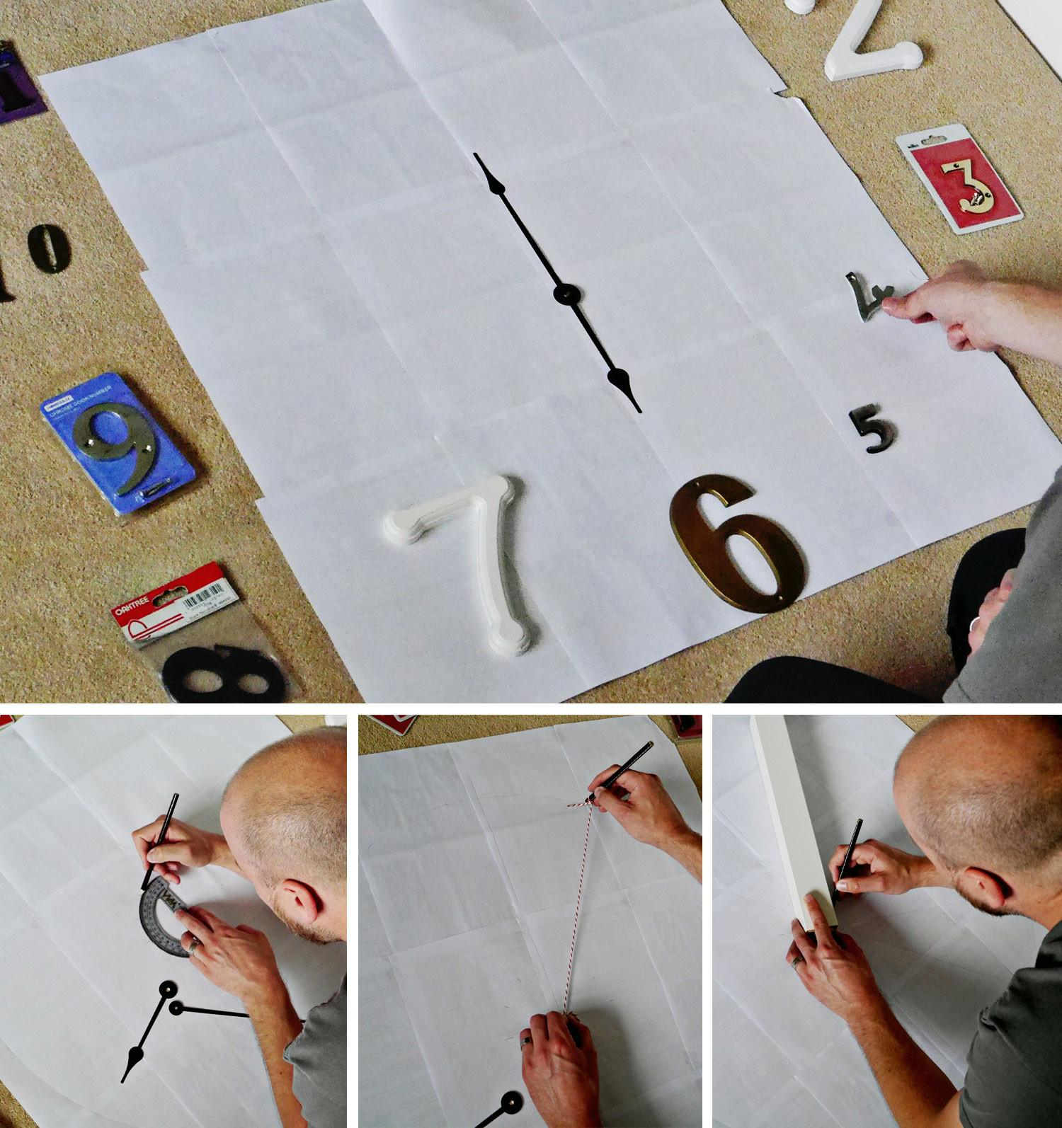 Diy Frameless Wall Clock Edenfound