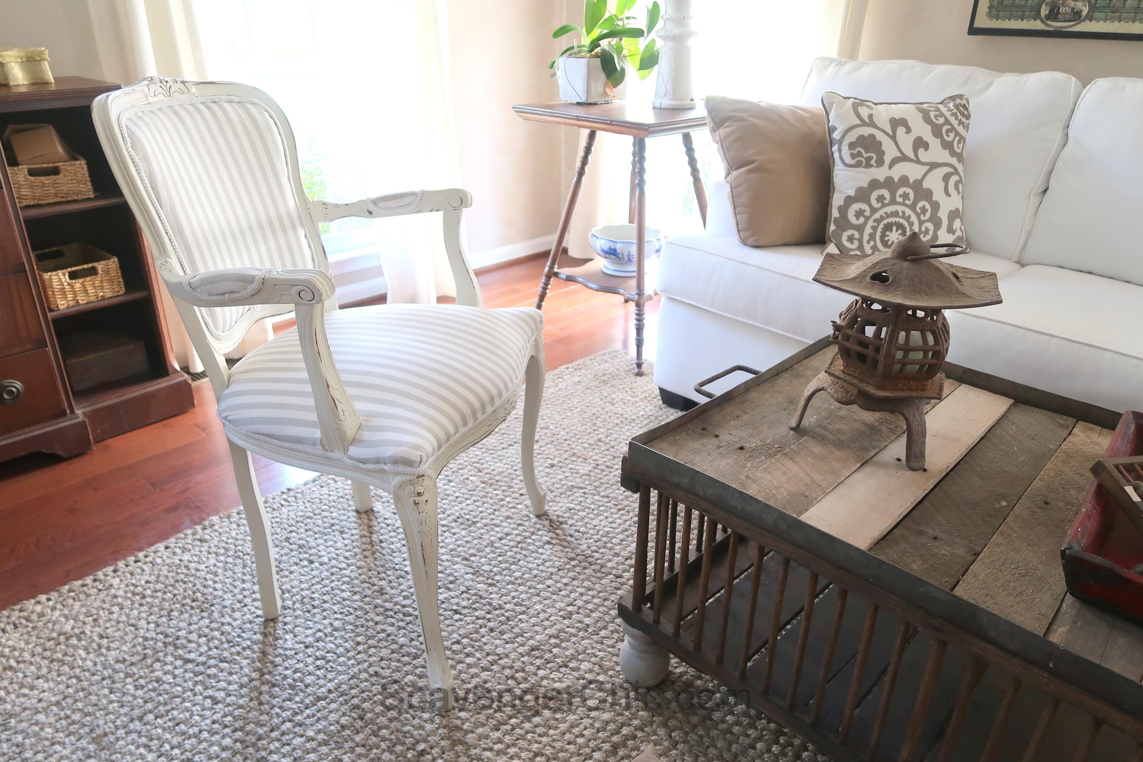 Diy French Chair Makeover Scavenger Chic