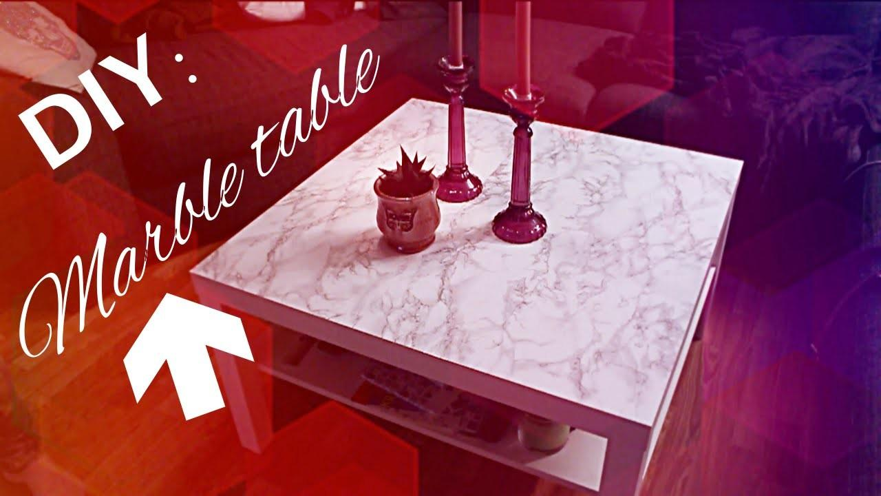 Diy Freshen Old Table Marble Contact