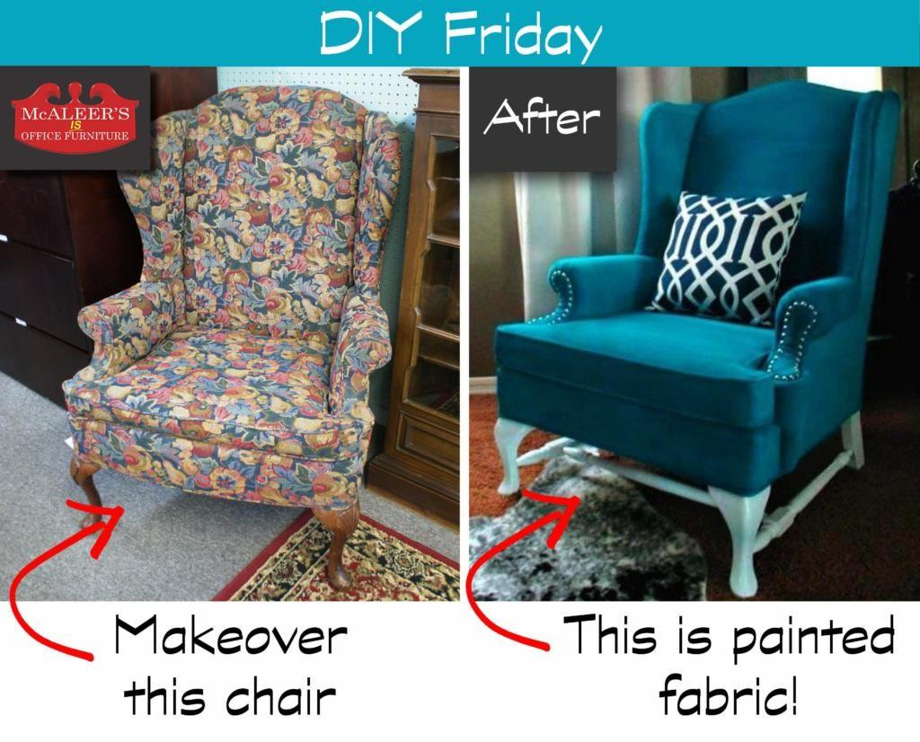 Diy Friday Painted Fabric Mcaleer Office Furniture