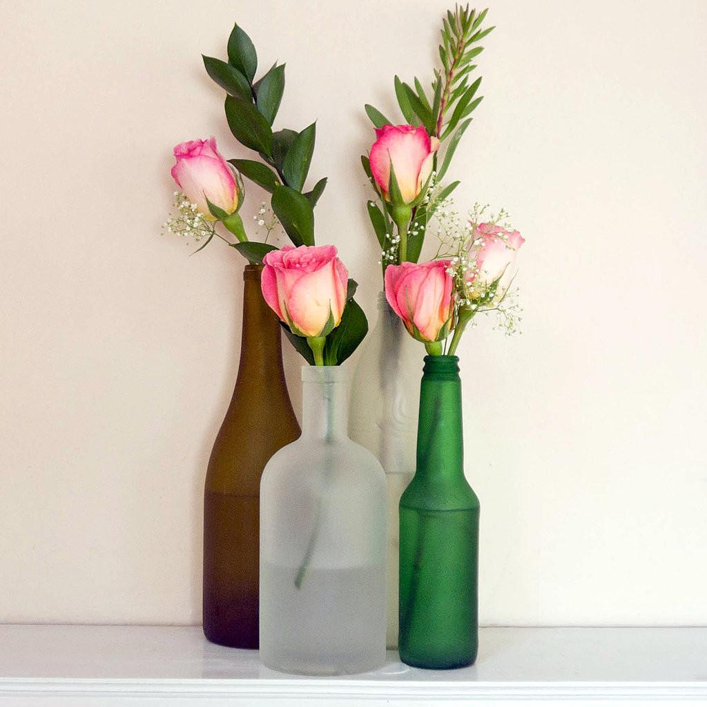 Diy Frosted Glass Bottles Popsugar Smart Living