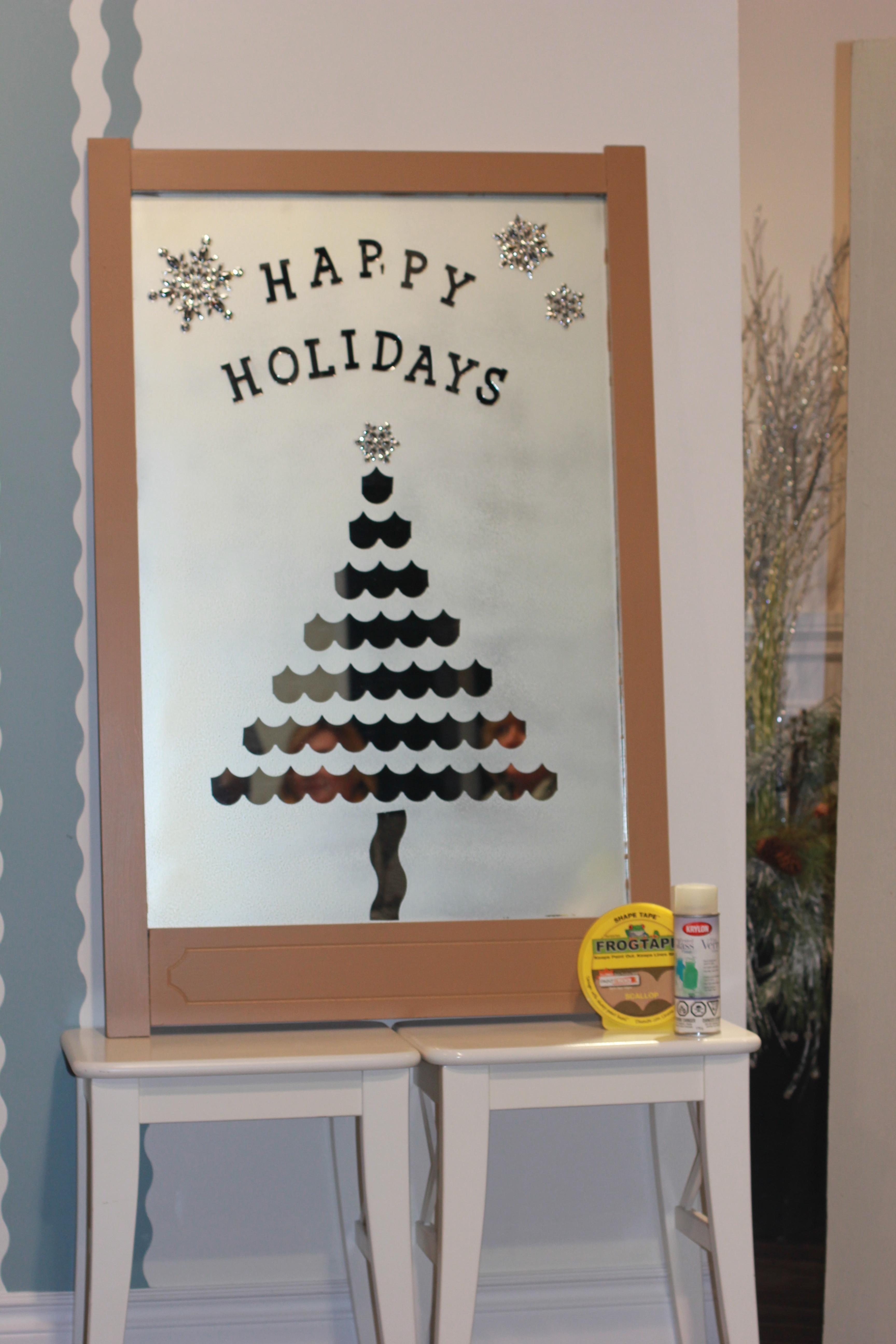 Diy Frosted Holiday Mirror Marc Mandy Show