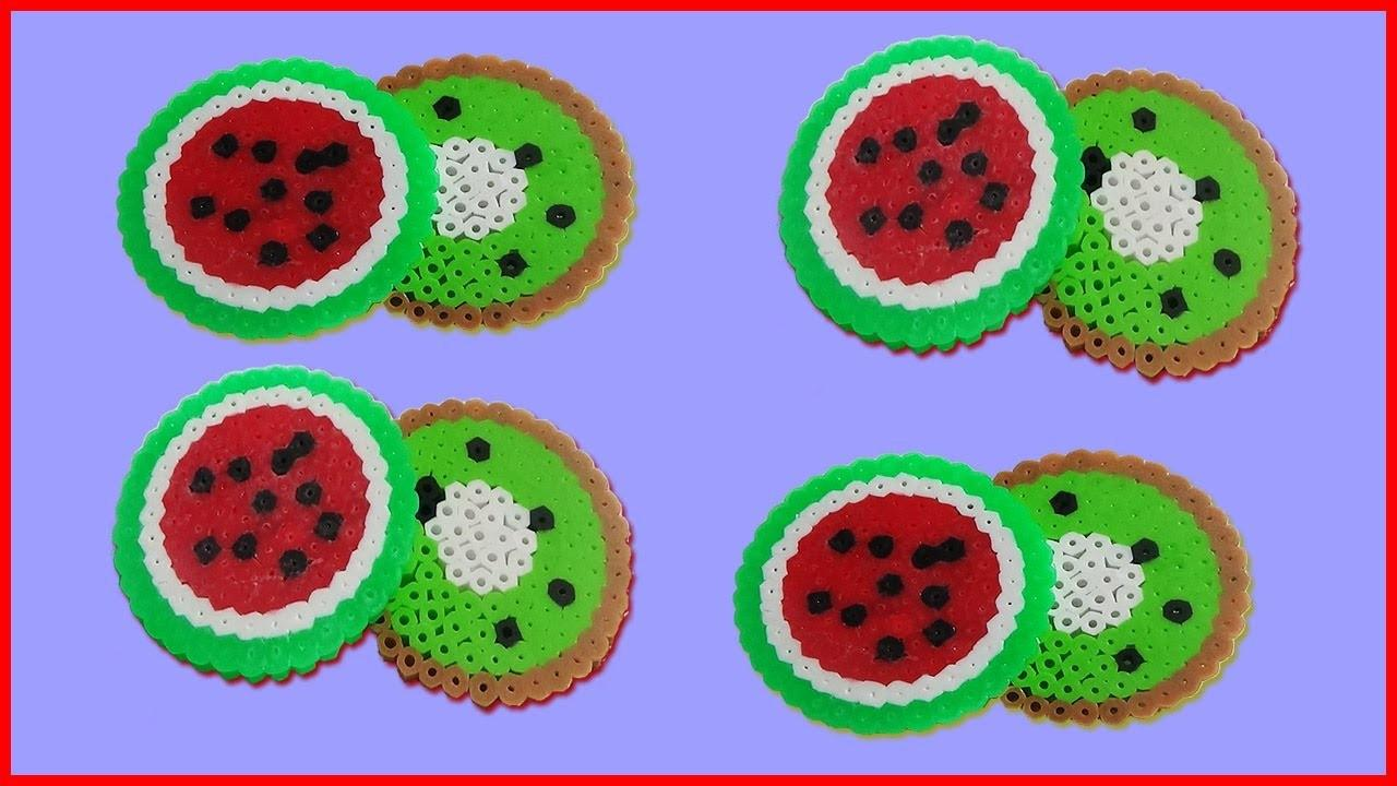 Diy Fruit Coasters Perler Beads Amy
