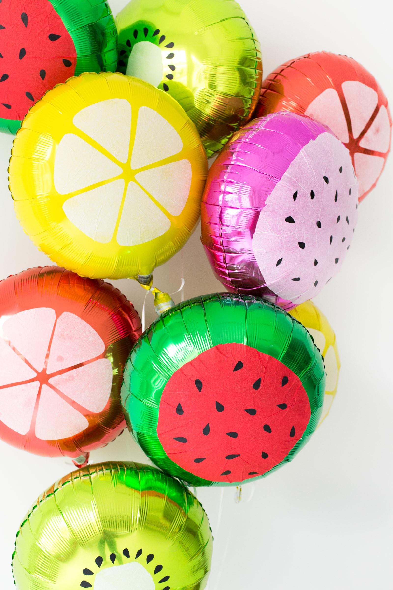 Diy Fruit Slice Balloons Summer Parties Balloon Time
