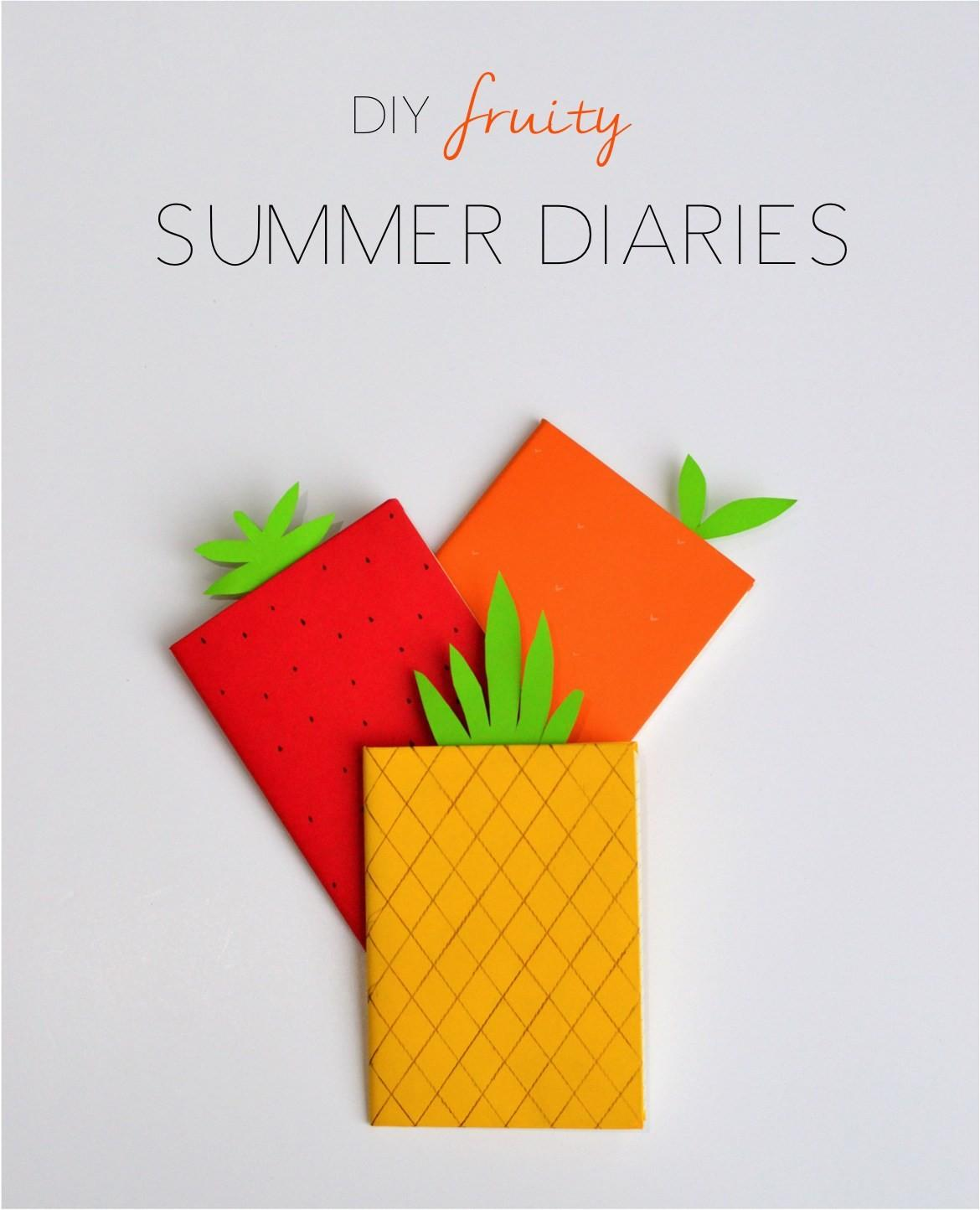 Diy Fruity Summer Diary