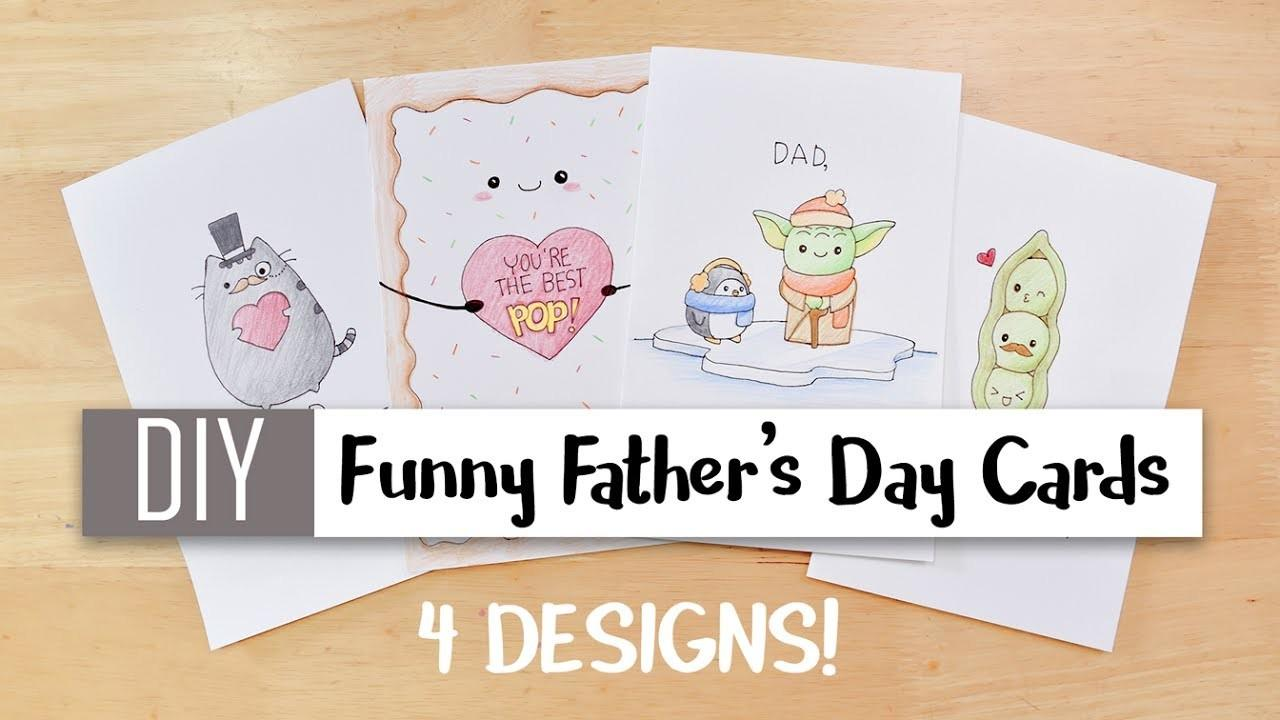 Diy Funny Father Day Cards Easy Cute Puns Card