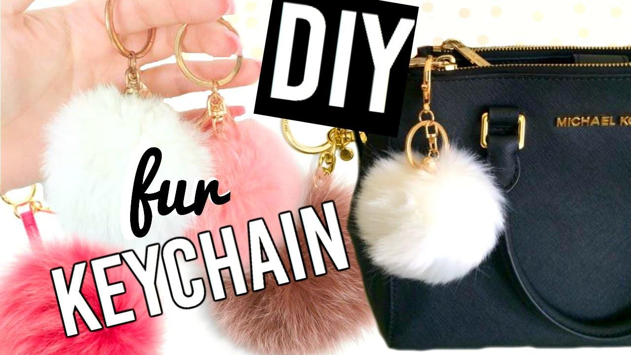 Diy Fur Key Chain Your Purse Michael Kors Inspired
