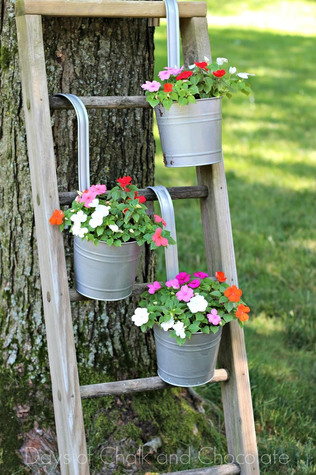Diy Galvanized Planters Ladder Plant Stand Days
