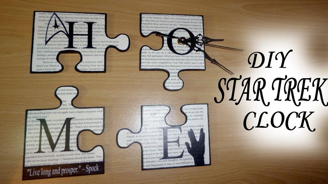 Diy Geek Chic Star Trek Puzzle Pieces Home Decor Wall