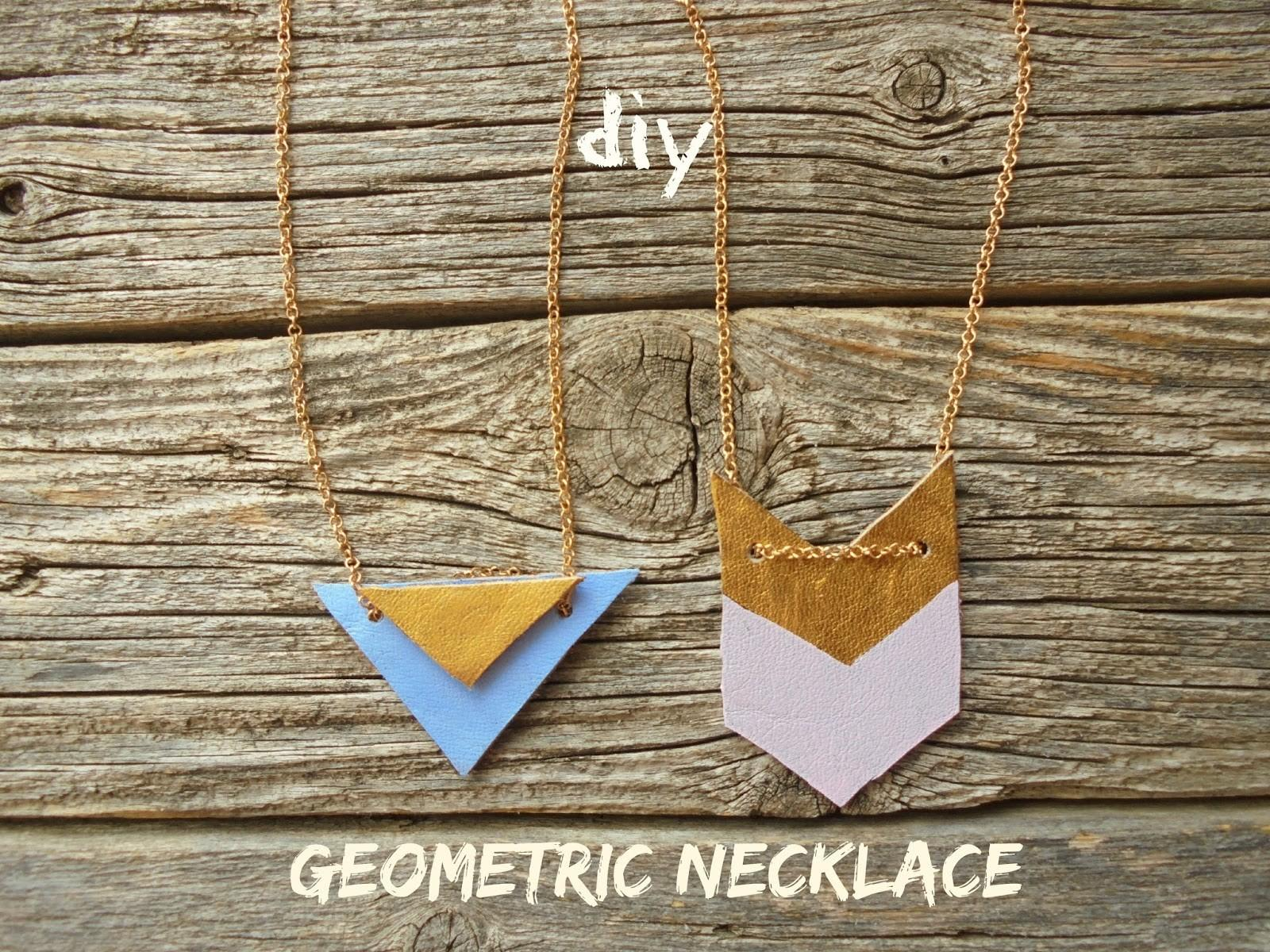 Diy Geometric Necklace Milleunrossetto