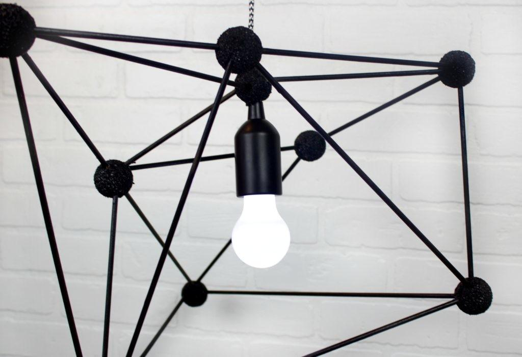 Diy Geometric Pendant Lamp Little Craft Your Day
