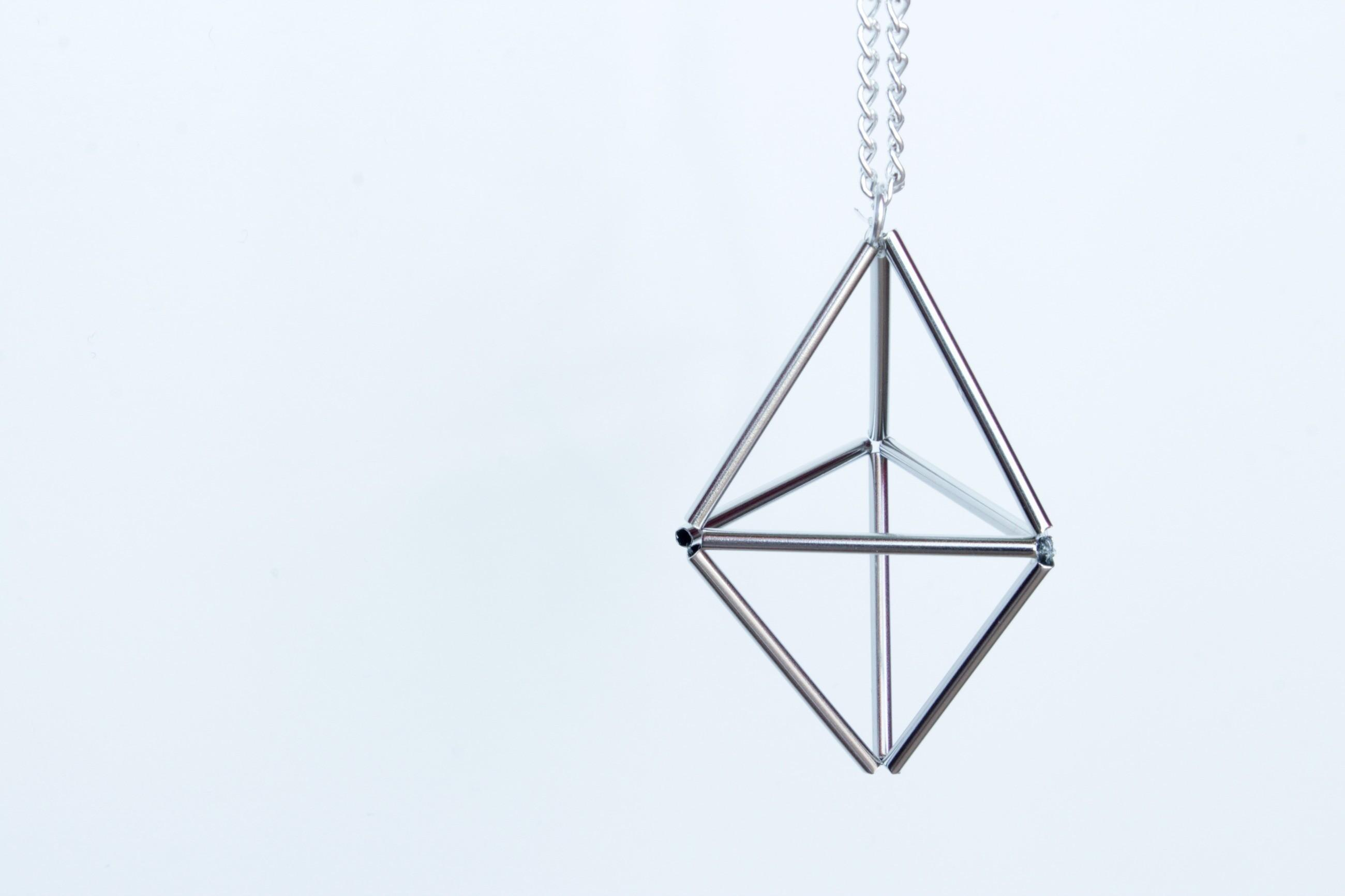 Diy Geometric Prism Necklace Make Chain