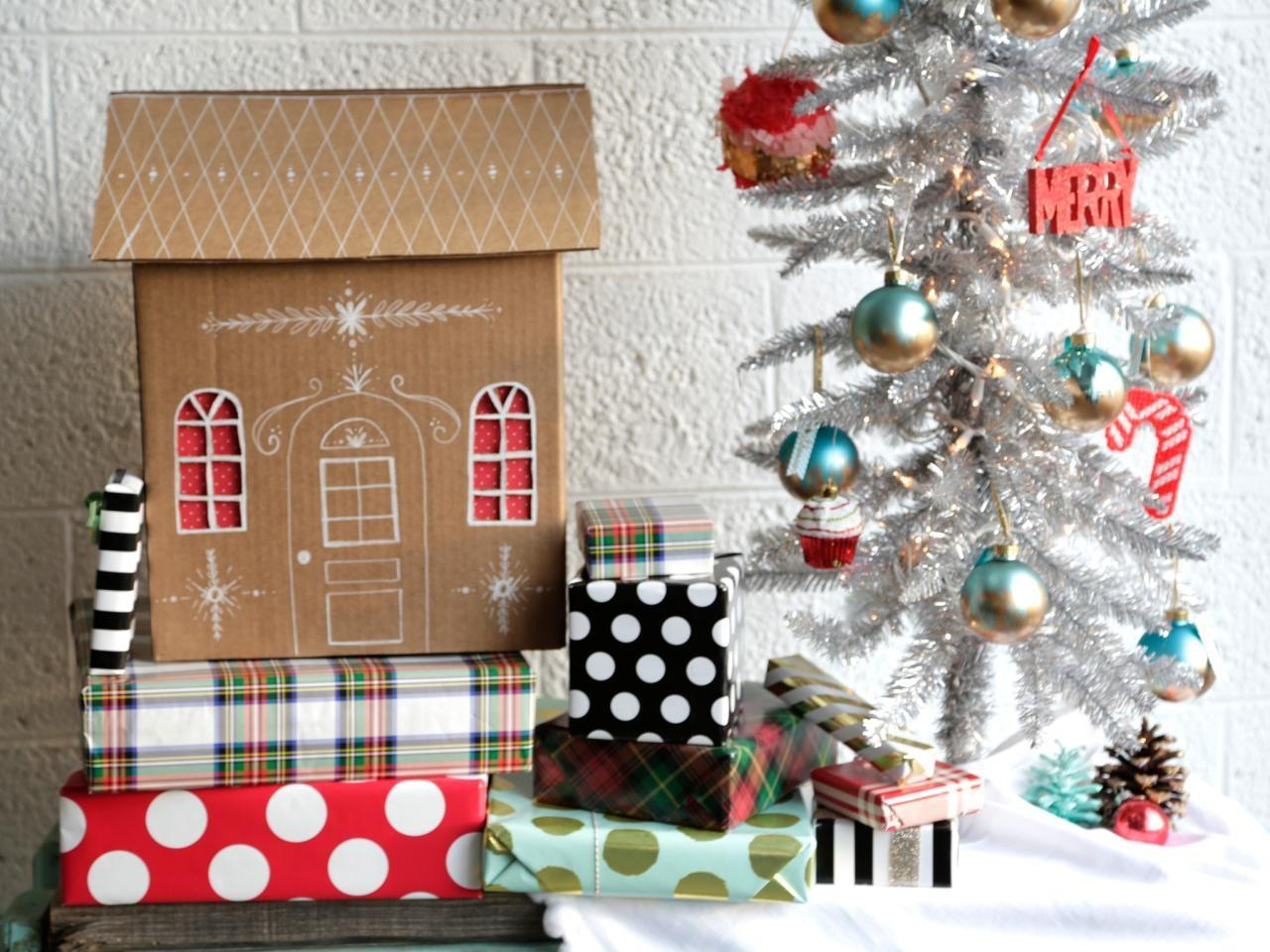 Diy Gingerbread House Gift Boxes Decorating
