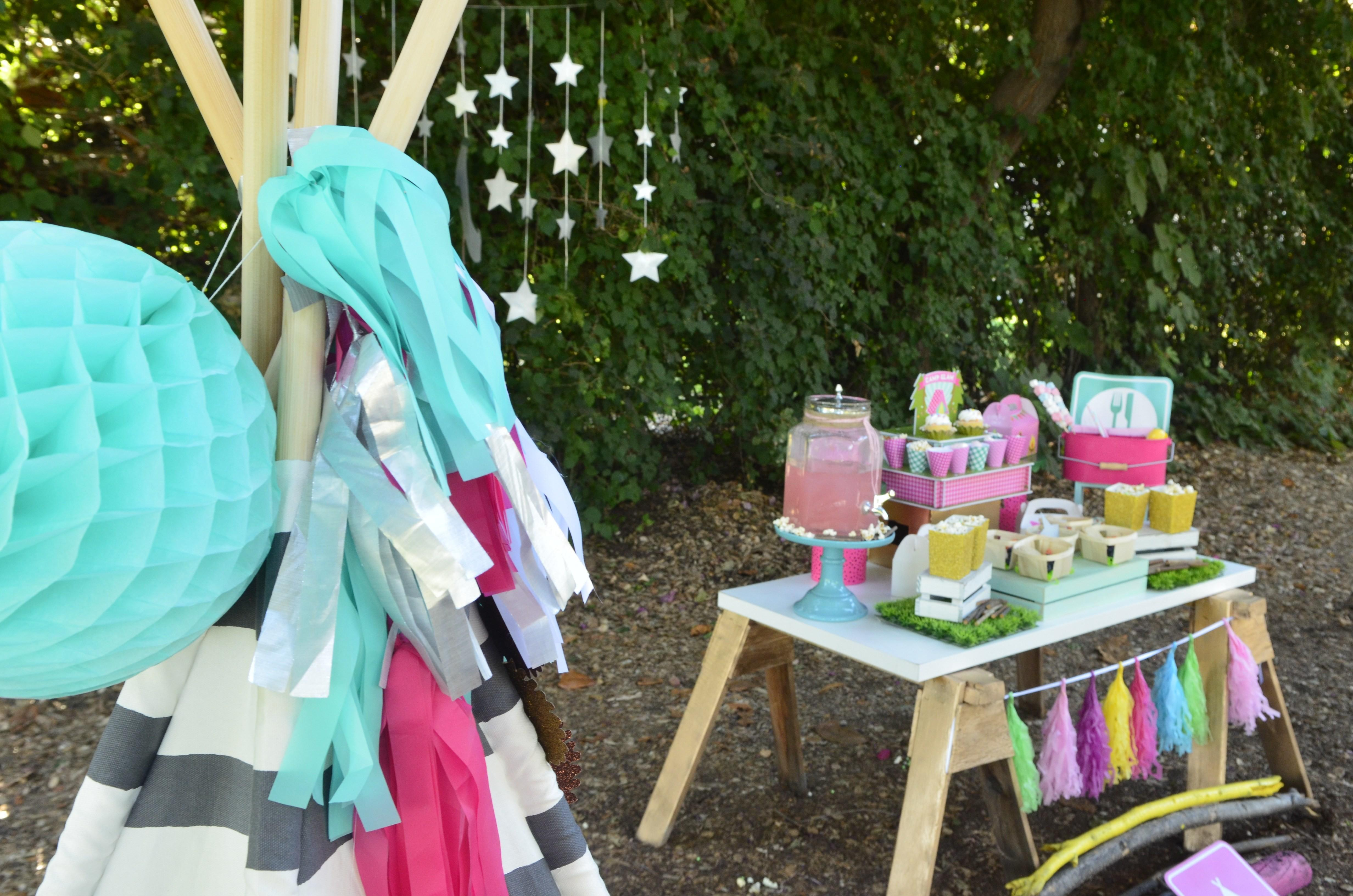 Diy Girly Glam Camp Out Party