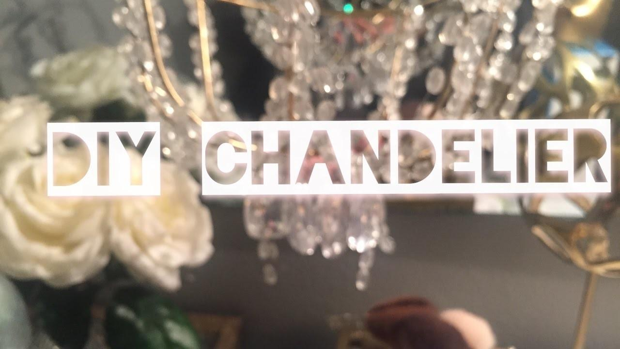 Diy Glam Chandelier Crafts Projects
