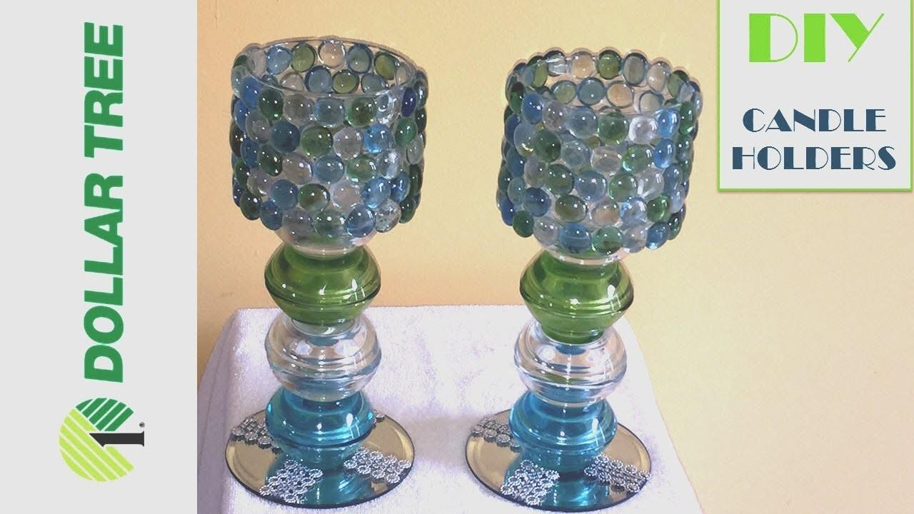 Diy Glam Dollar Tree Bling Candle Holders