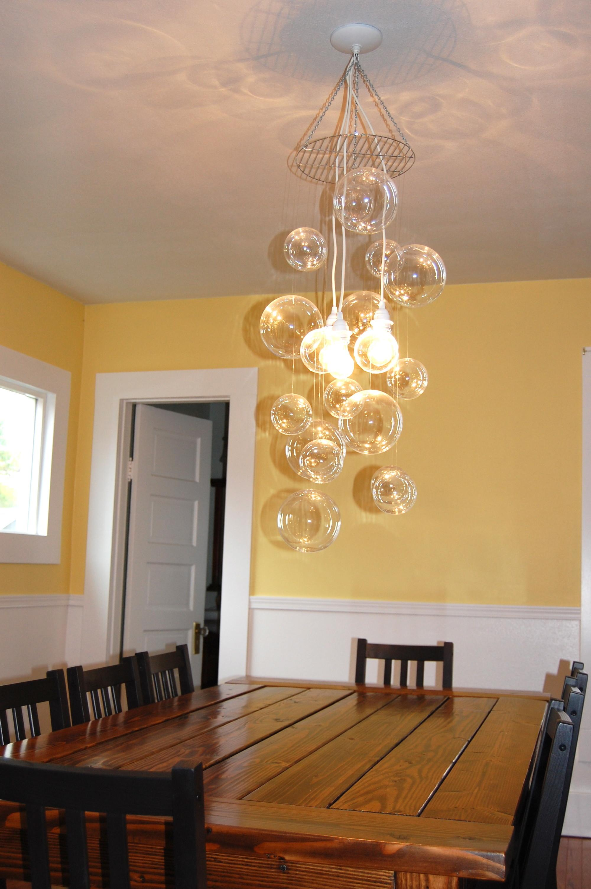 Diy Glass Bubble Chandelier Project Aholic