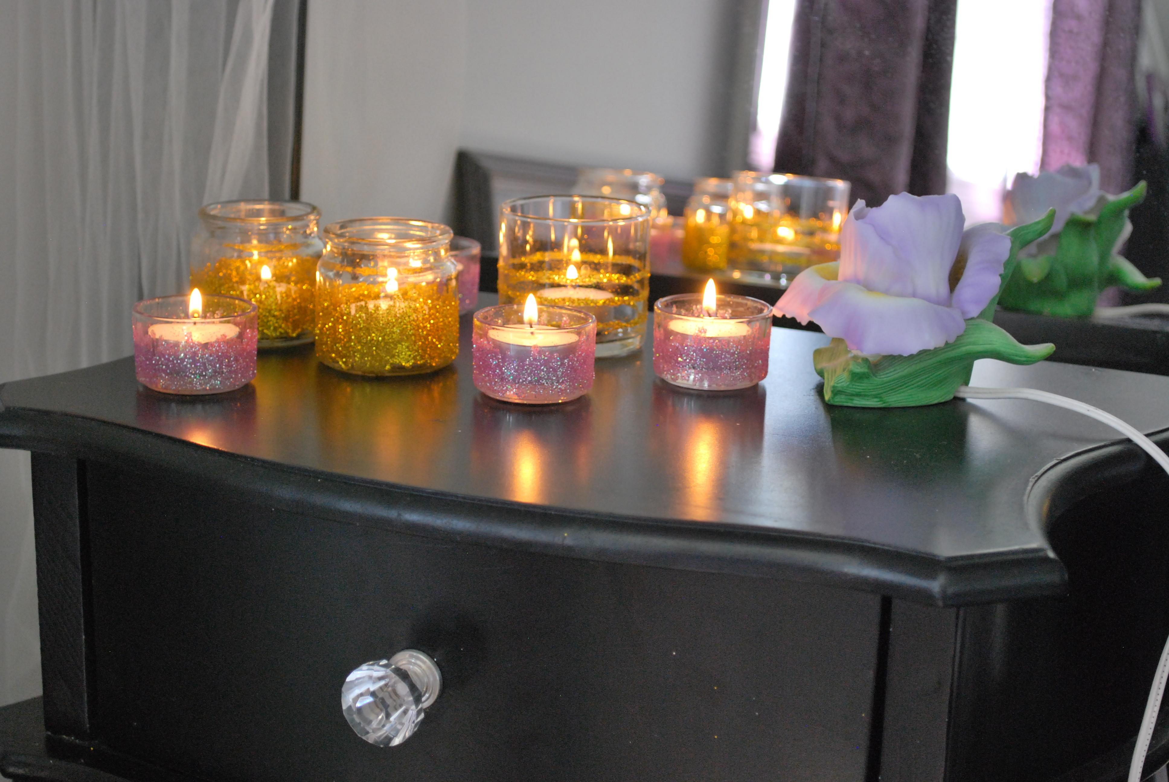Diy Glitter Candle Holders Fancy Lady
