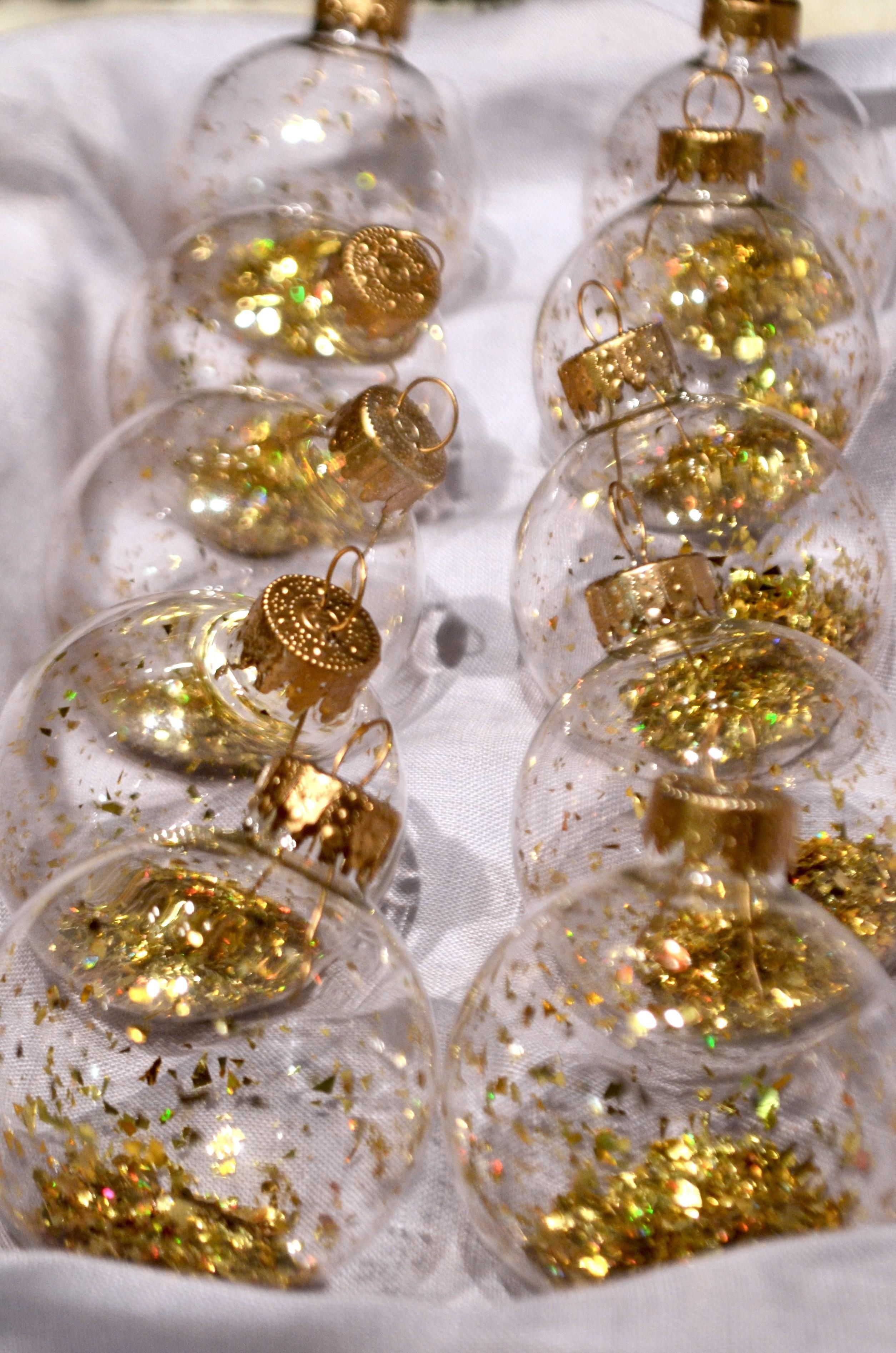 Diy Glitter Filled Ornaments Angean