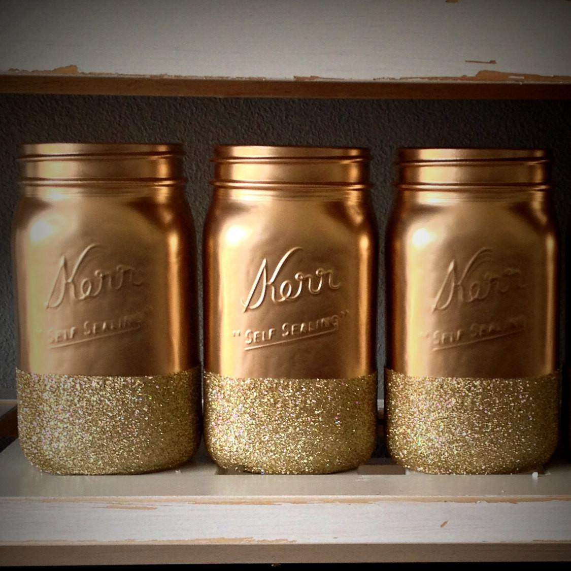 Diy Glitter Mason Jars Jar Crafts