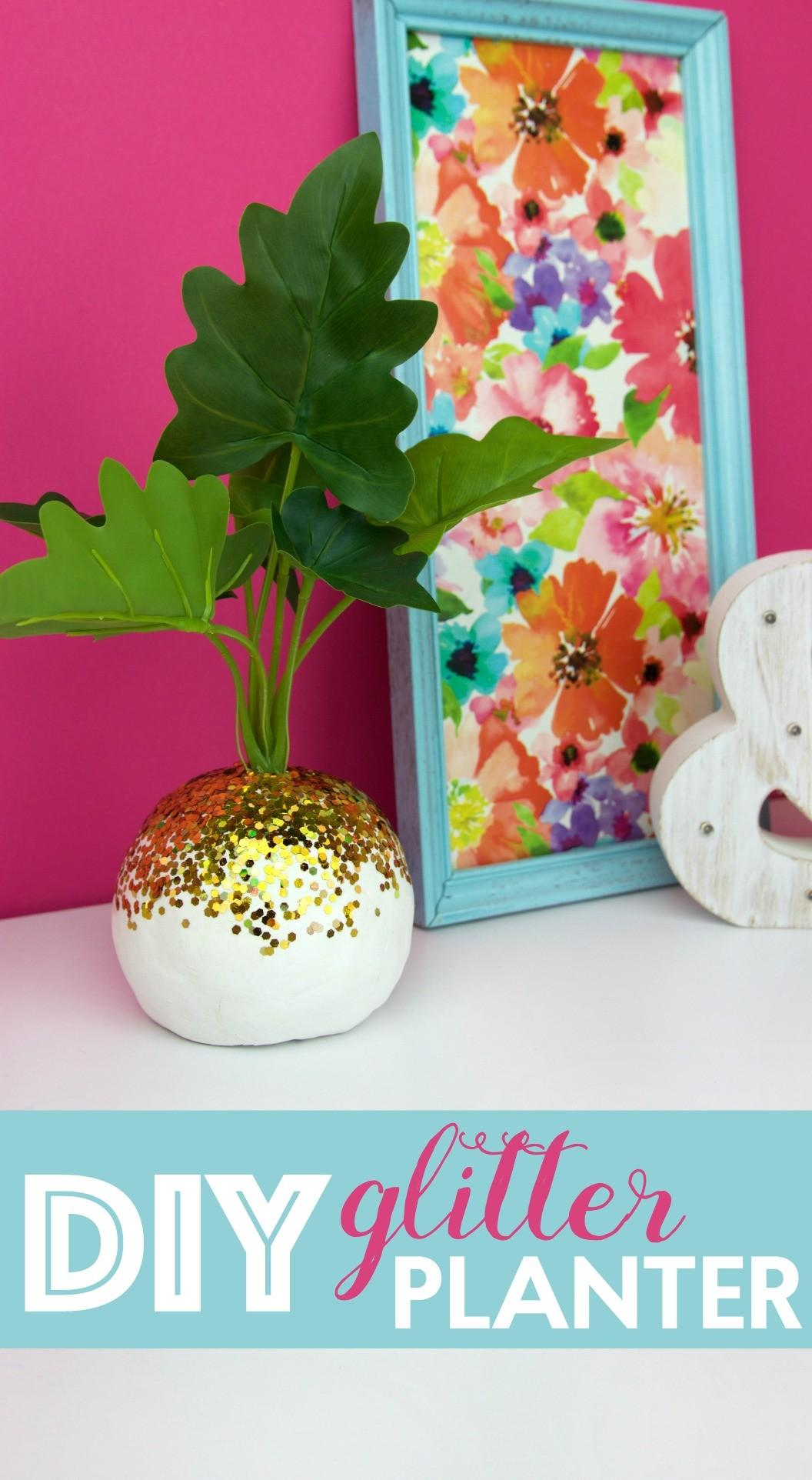 Diy Glitter Planter Little Craft Your Day