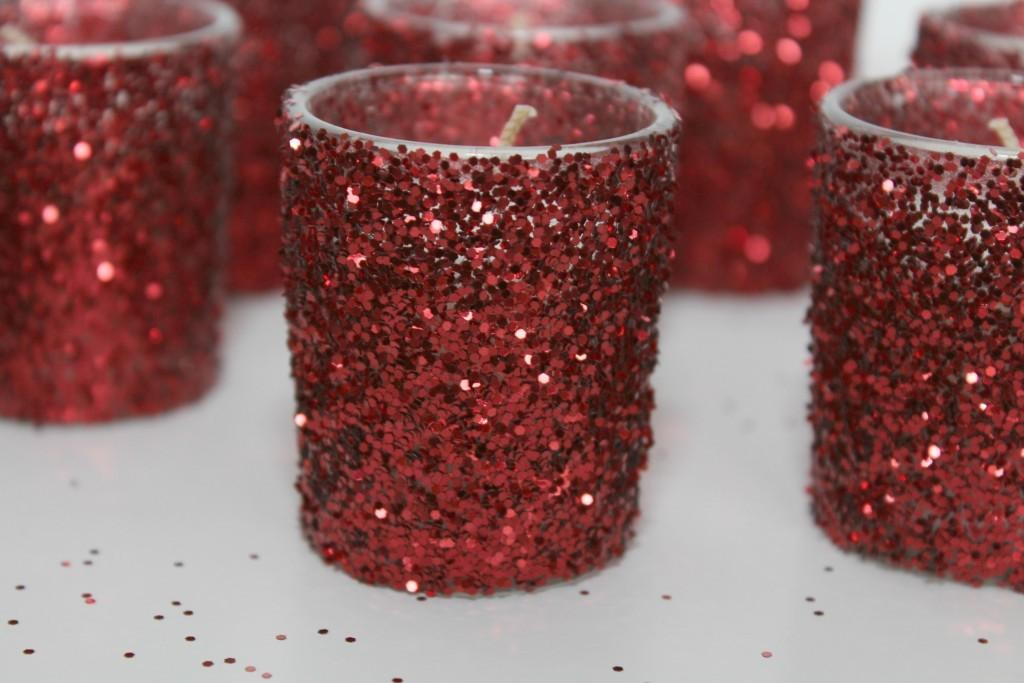 Diy Glittered Candle Holders Frazzled Joy